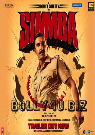 Simmba 2018 Pre DVDRip 400Mb Full Hindi Movie Download 480p Watch Online Free bolly4u