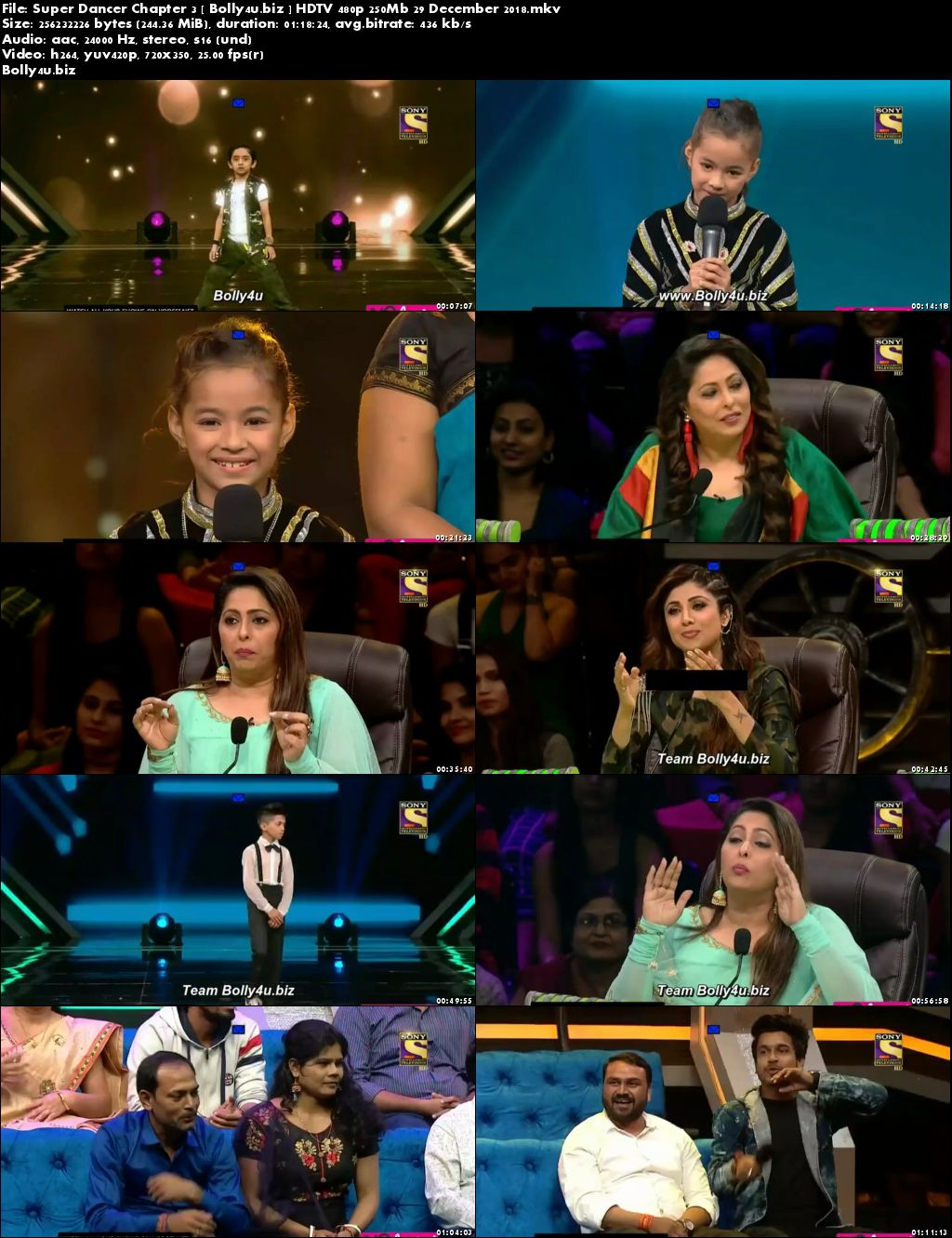 Super Dancer Chapter 3 HDTV 480p 250Mb 29 December 2018 Download