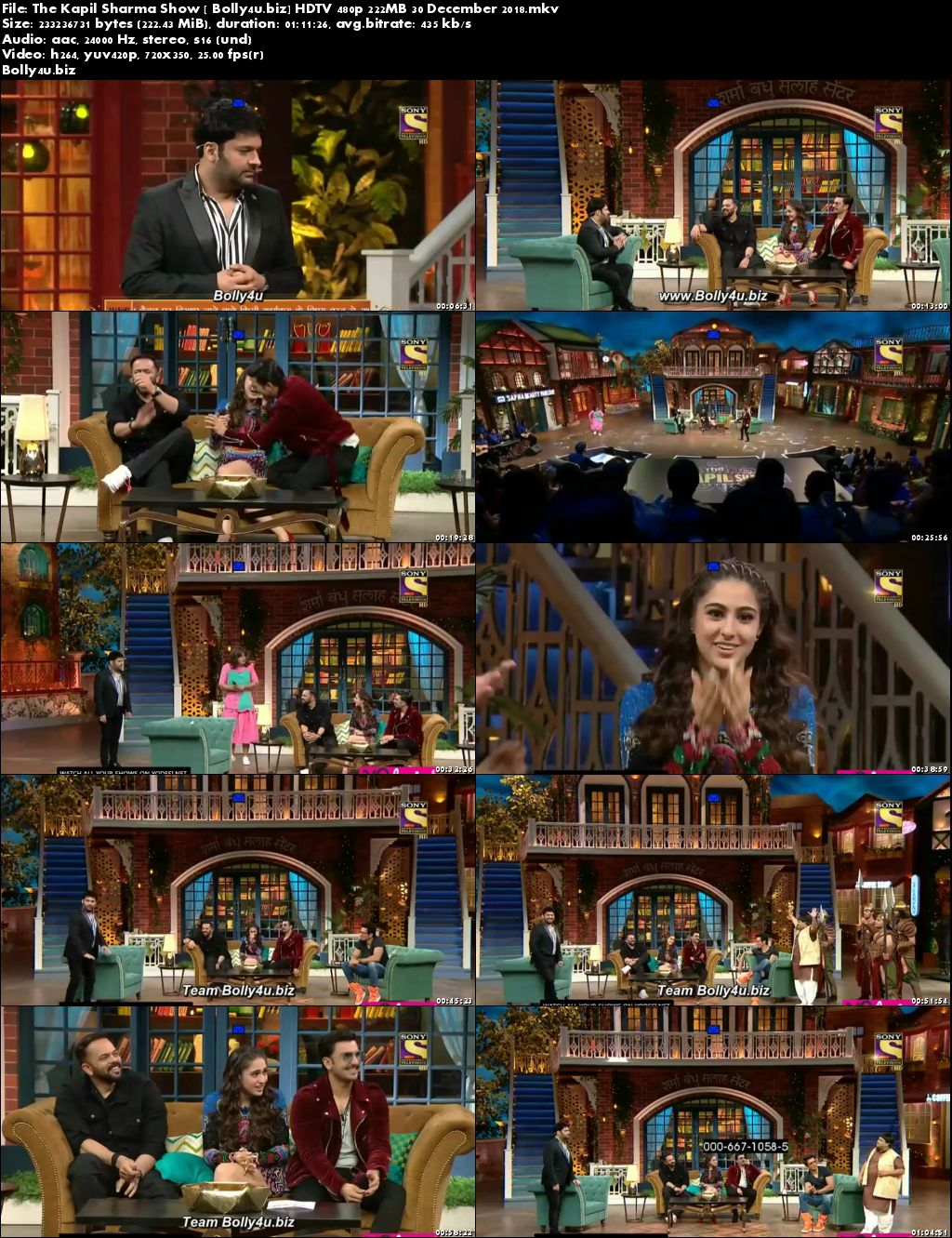 The Kapil Sharma Show HDTV 480p 200MB 30 December 2018 Download
