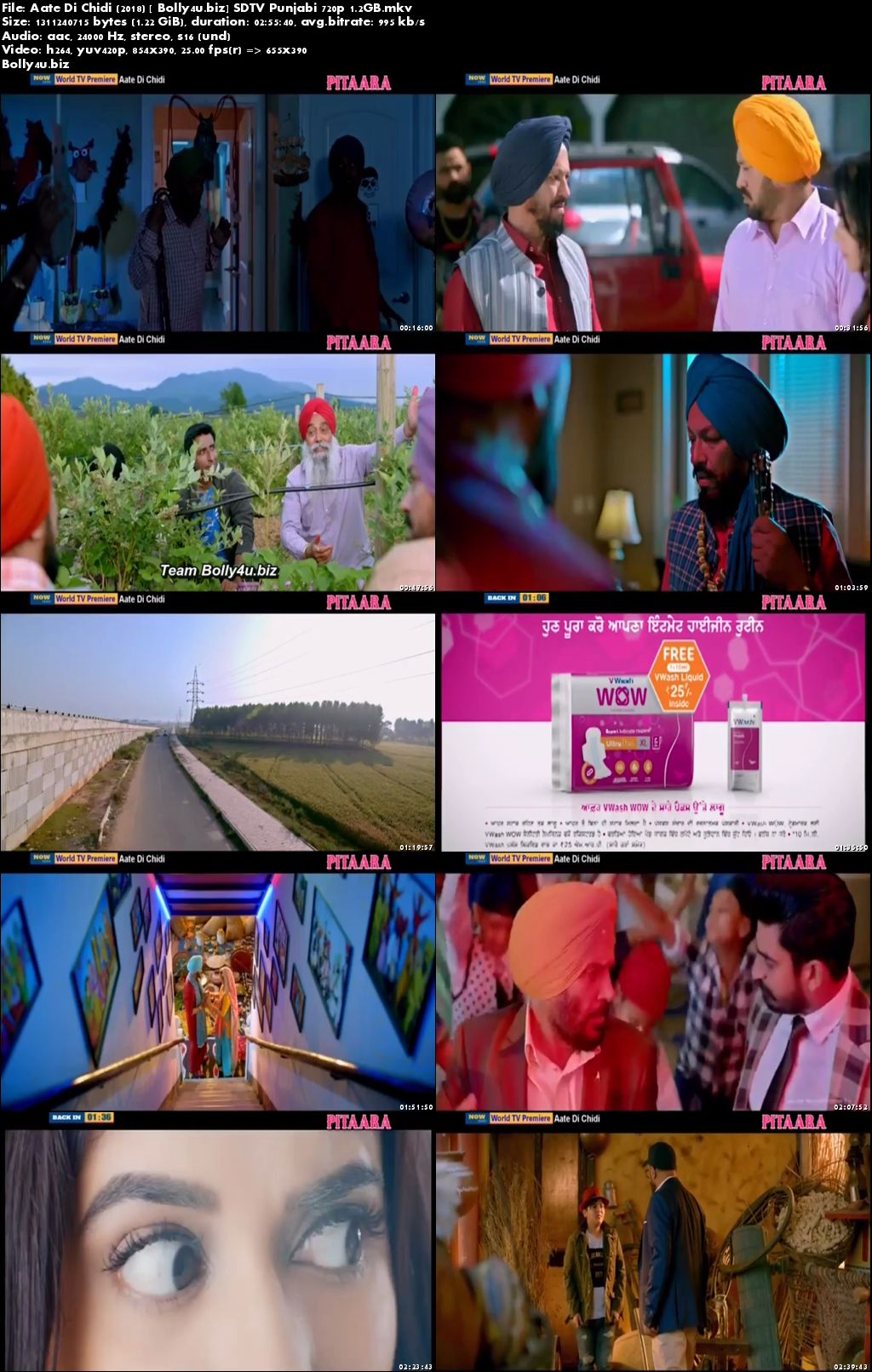 Aate Di Chidi 2018 SDTV Full Punjabi Movie Download 720p