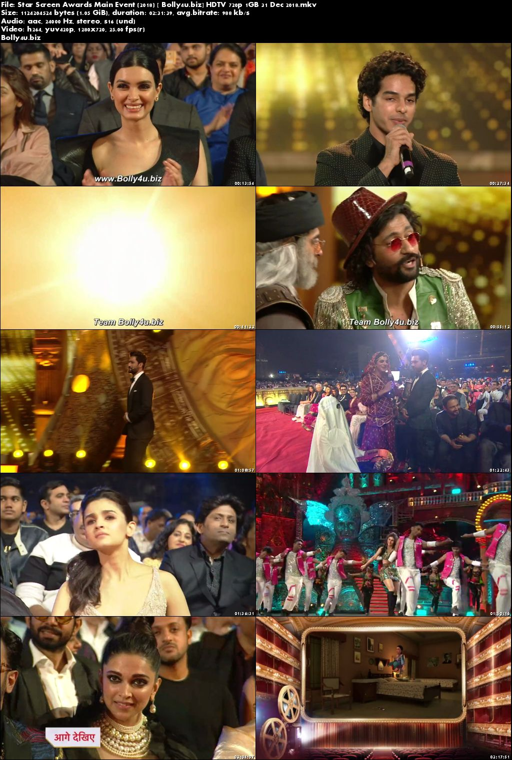 Star Screen Awards 2018 HDTV 1GB Main Event 31 Dec 2018 720p Download