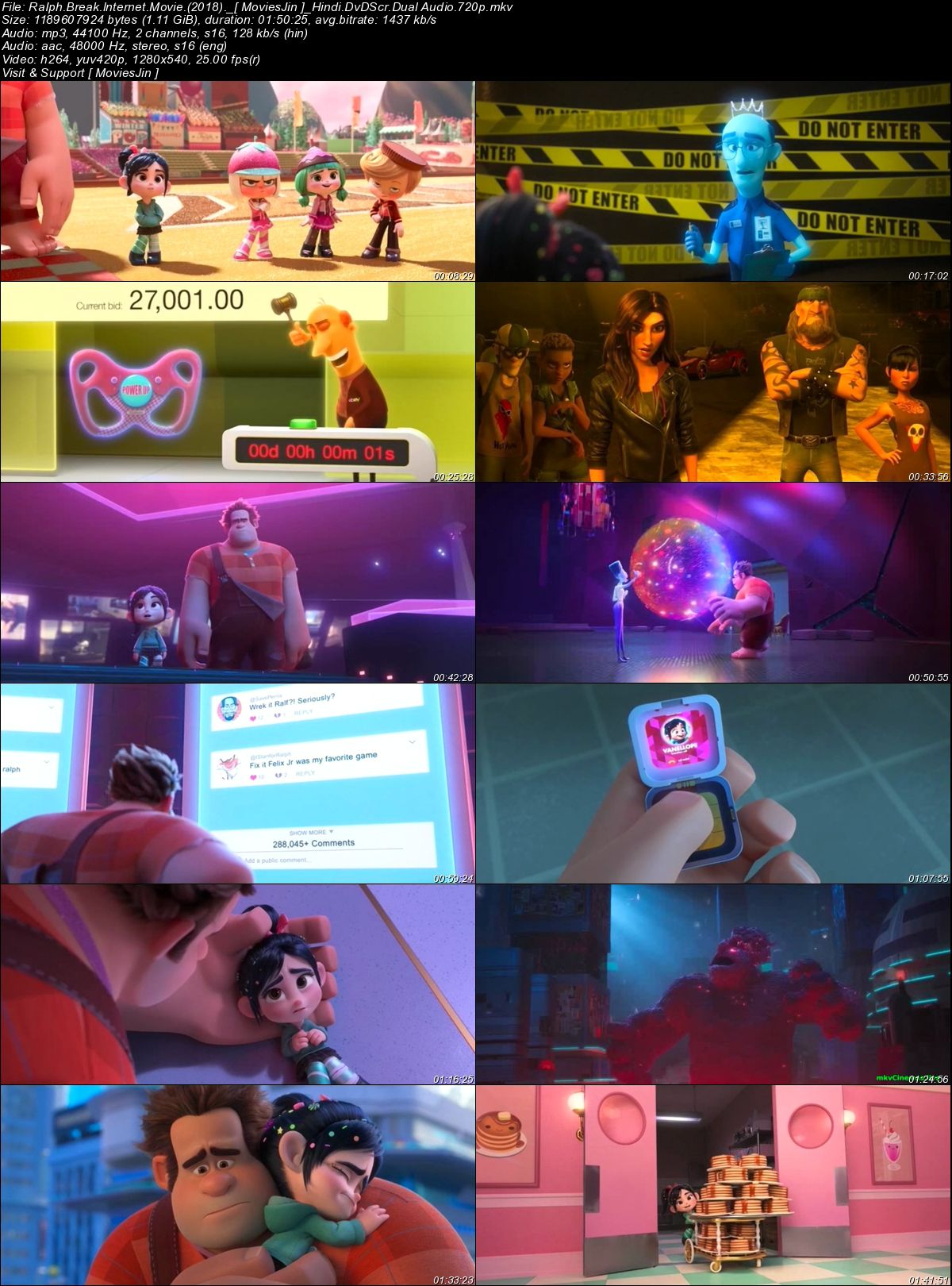 Watch Online Ralph Breaks the Internet 2018 300MB Movie Dual Audio Hindi 480p Full Movie Download 300mbmovies