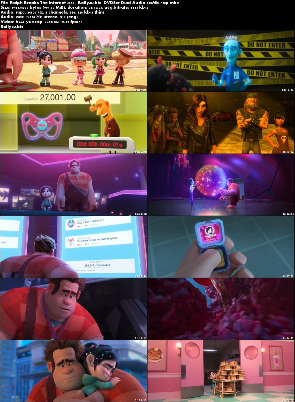 Ralph Breaks The Internet 2018 DVDScr 350Mb Hindi Dual Audio 480p Download