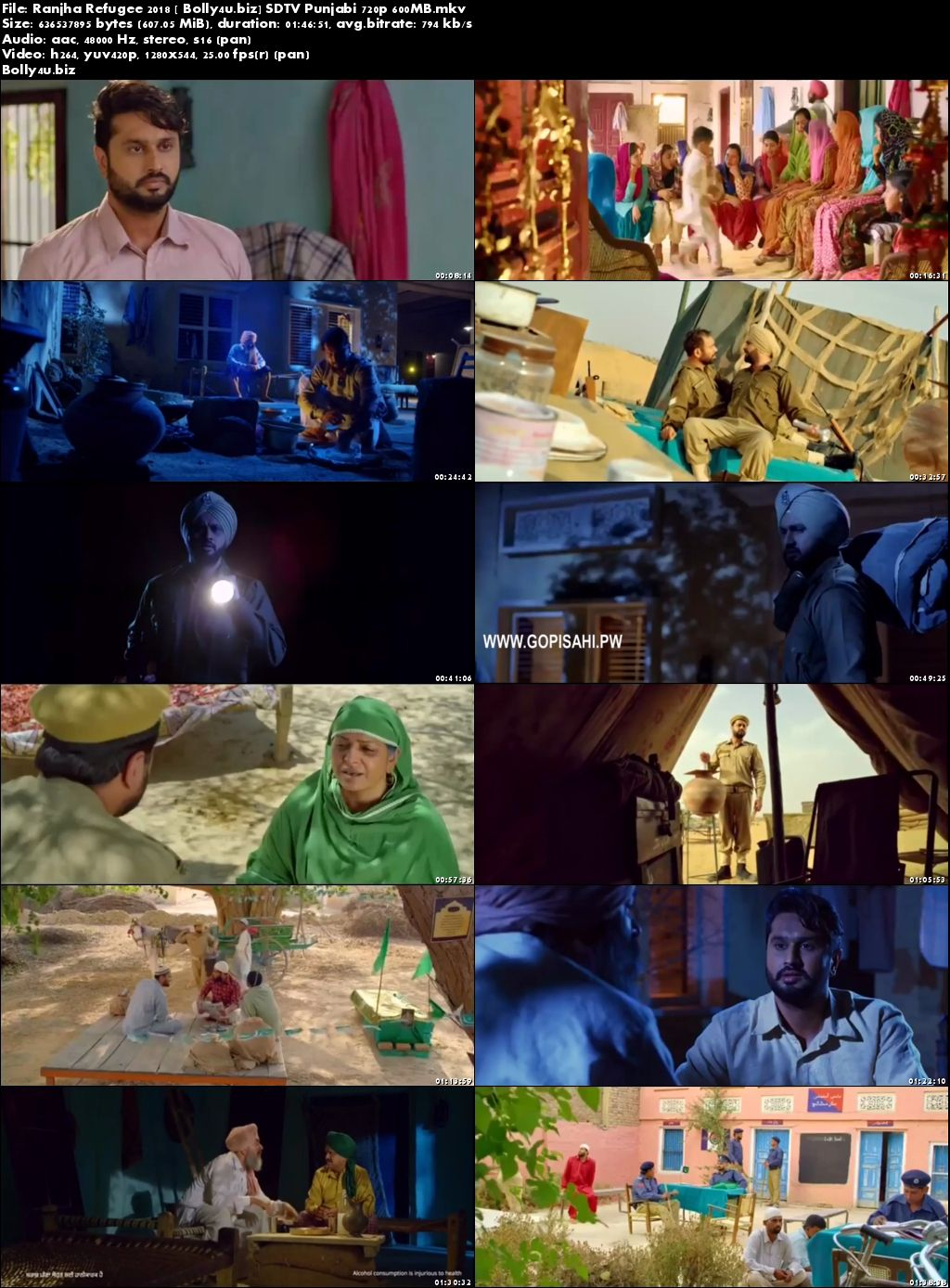 Ranjha Refugee 2018 SDTV 300Mb Punjabi 480p Download