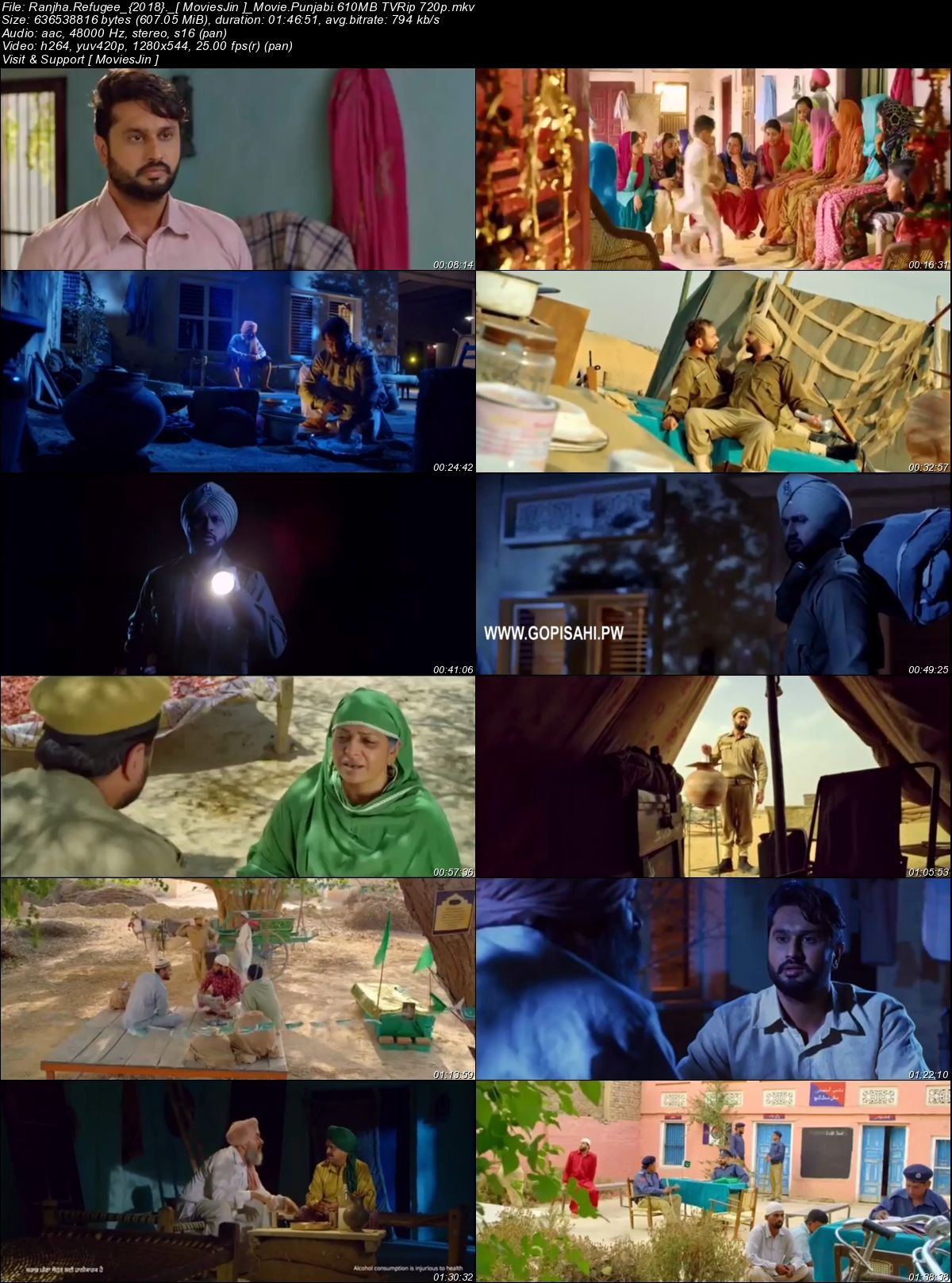 Watch Online Ranjha Refugee 2018 Full Movie Punjabi 600MB TVRip 720p Full Movie Download 300mbmovies
