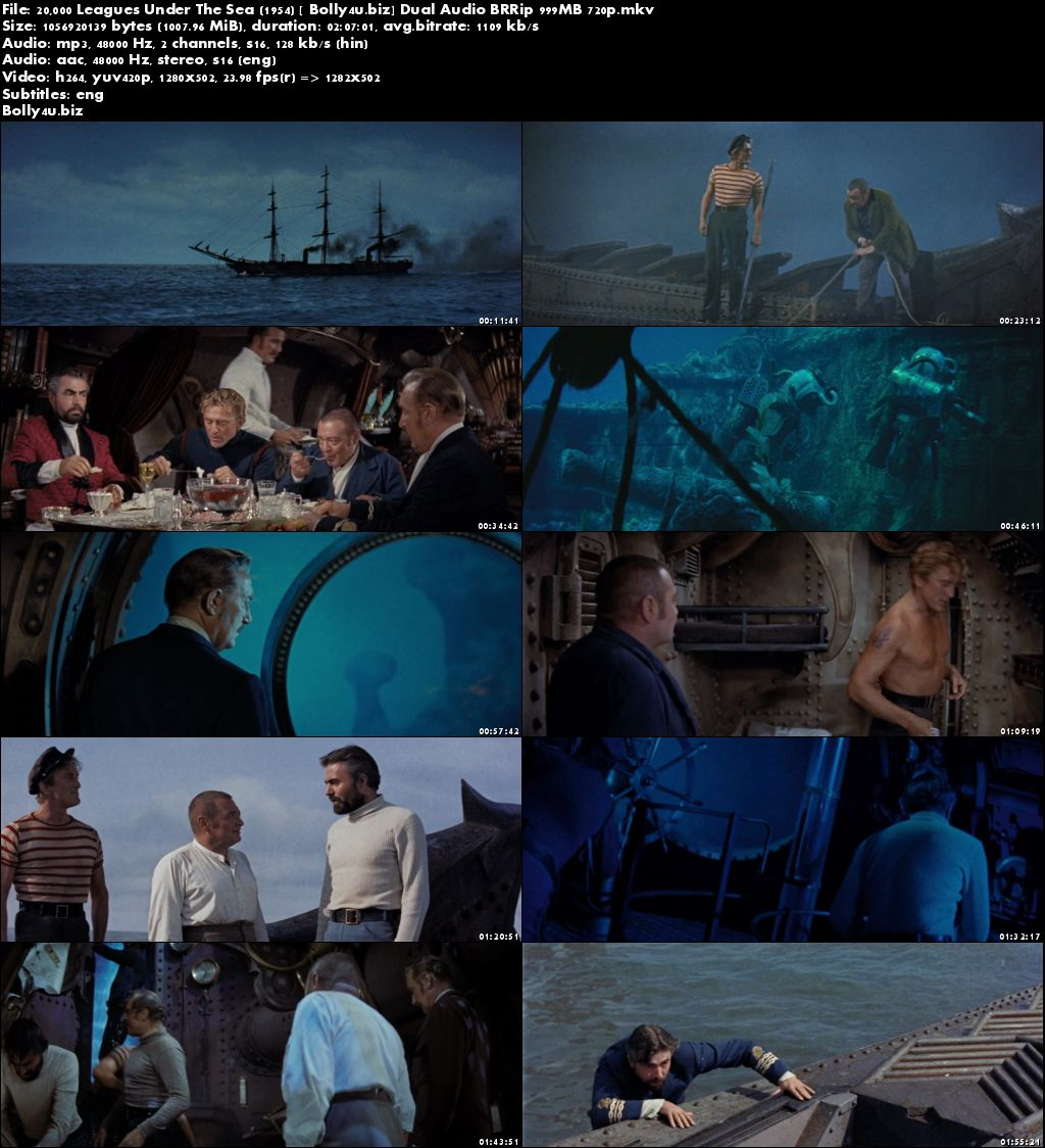 20000 Leagues Under The Sea 1954 Brrip 400mb Hindi Dual
