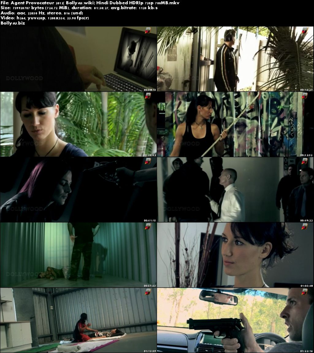 Agent Provocateur 2012 HDRip 700Mb Hindi Dubbed 720p Download