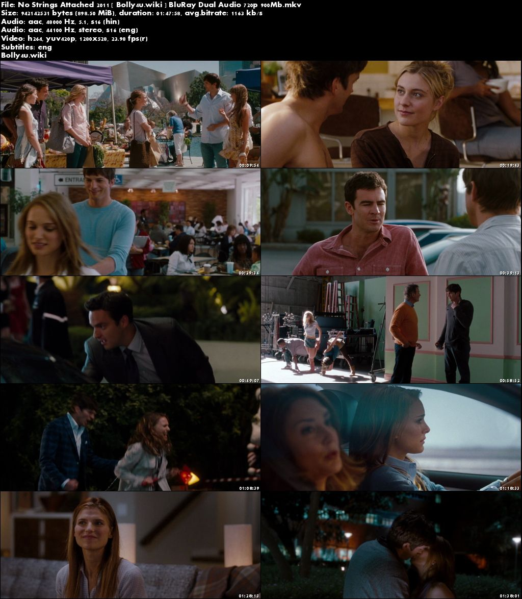 No Strings Attached 2011 BluRay 900Mb Hindi Dual Audio 720p Download