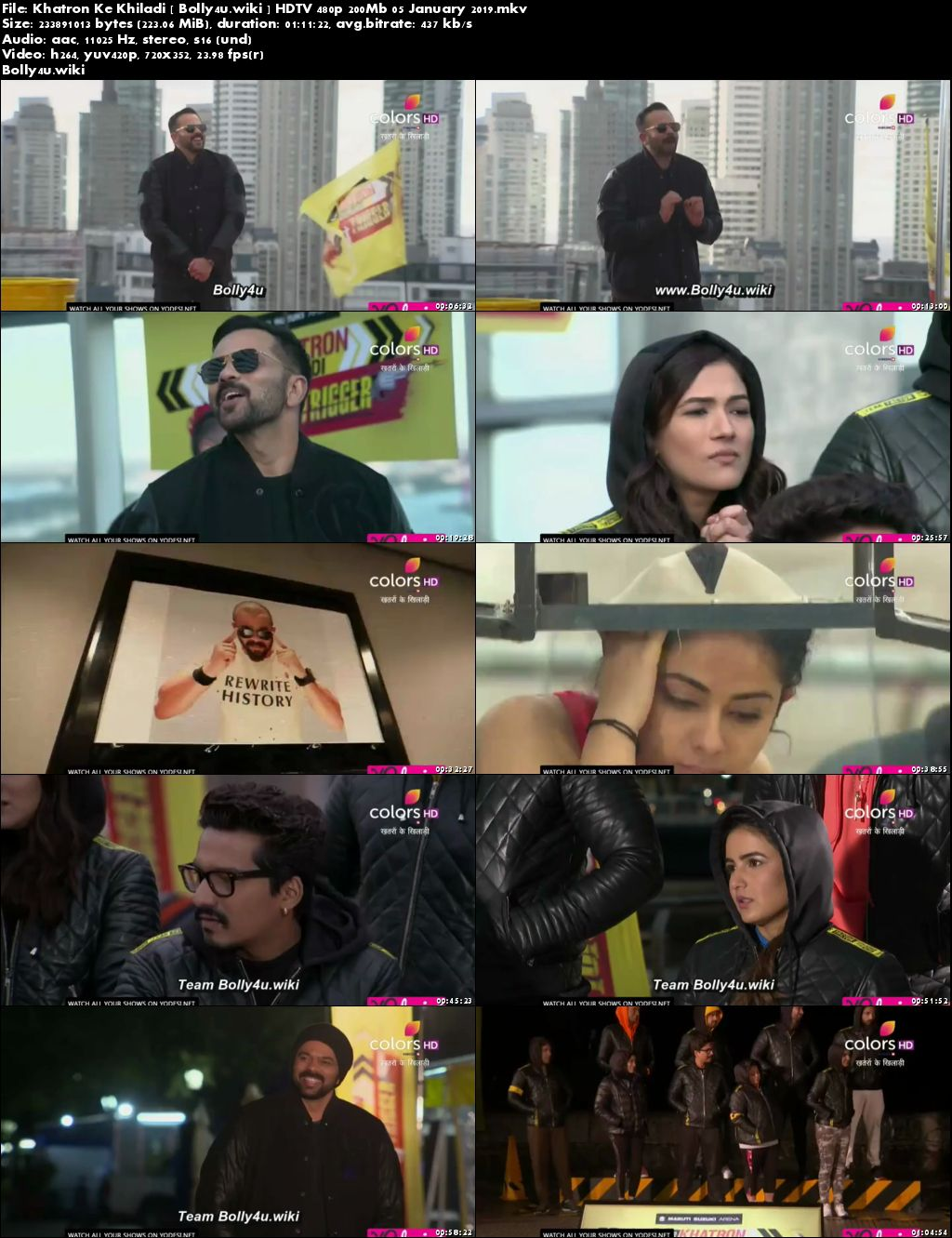 Khatron Ke Khiladi HDTV 480p 200Mb 05 January 2019 Download