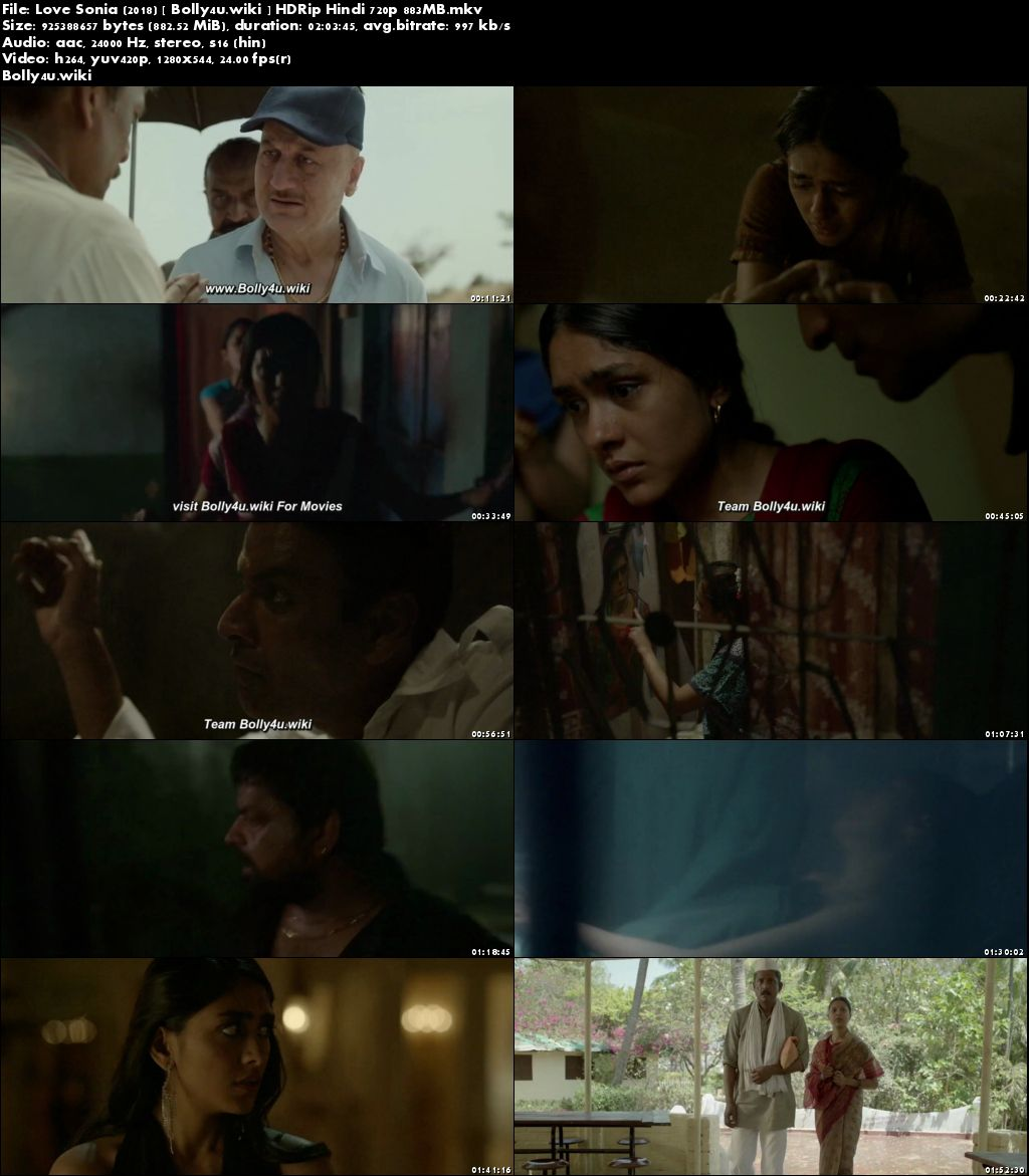 Love Sonia 2018 HDRip 350Mb Full Hindi Movie Download 480p