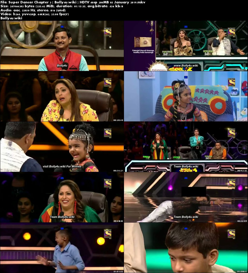 Super Dancer Chapter 3 HDTV 480p 200MB 05 January 2019 Download
