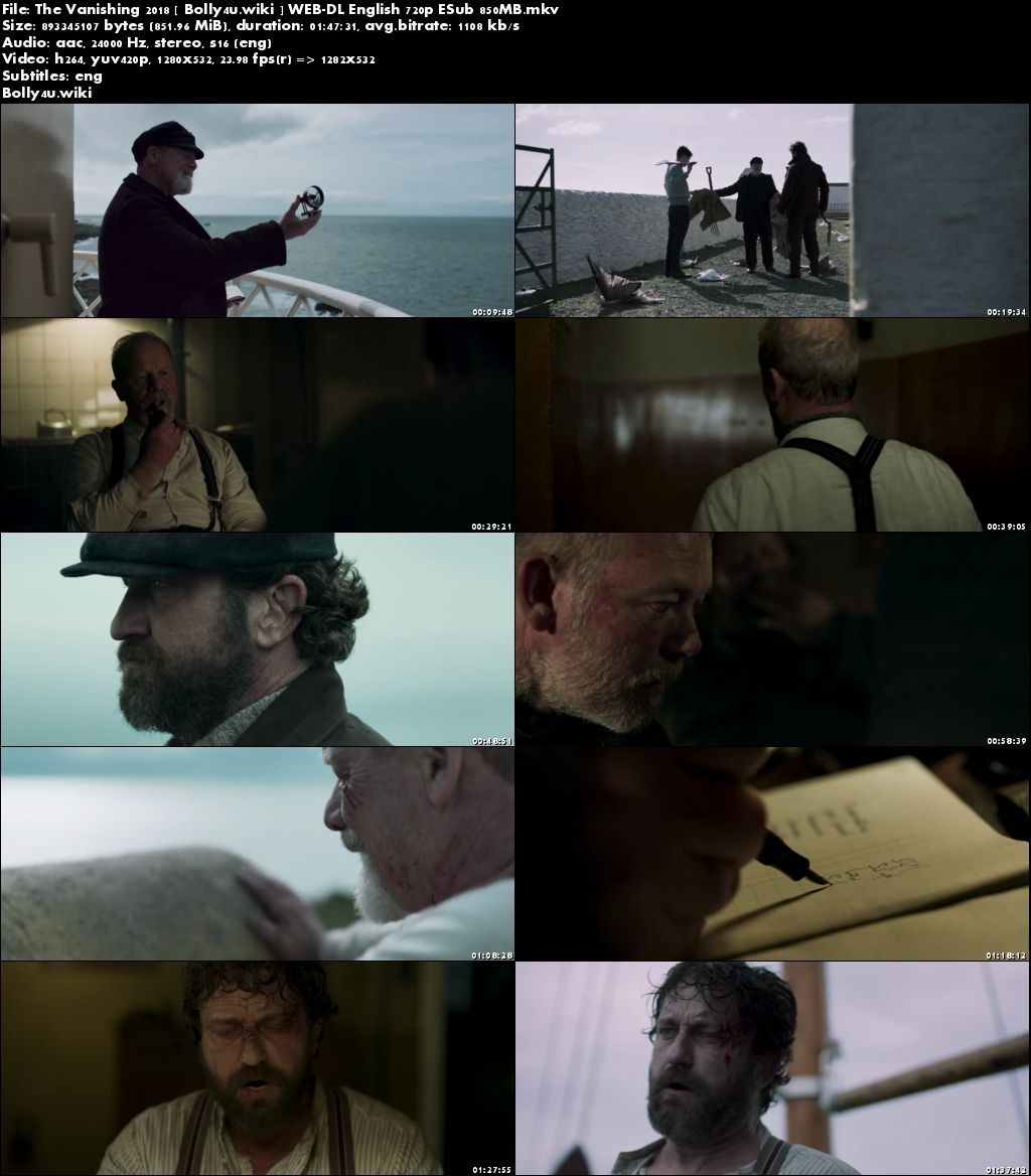 The Vanishing 2018 WEB-DL 300Mb English 480p ESub Download