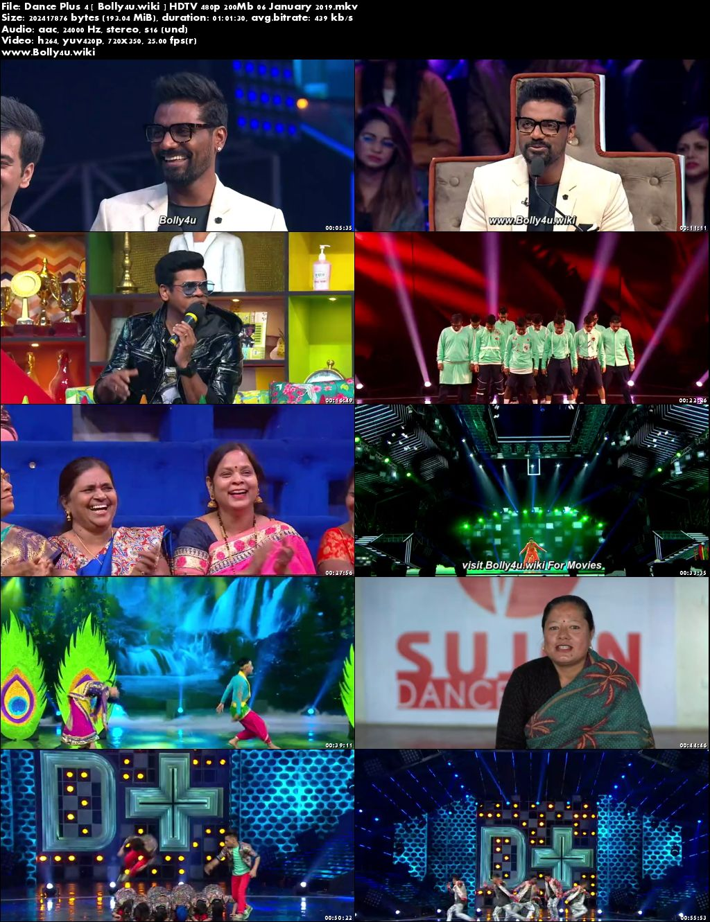 Dance Plus Season 4 HDTV 480p 200MB 06 January 2019 Download