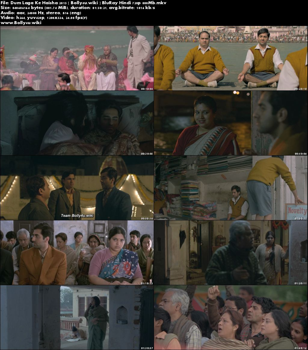 Dum Laga Ke Haisha 2015 BluRay 350Mb Full Hindi Movie Download 480p