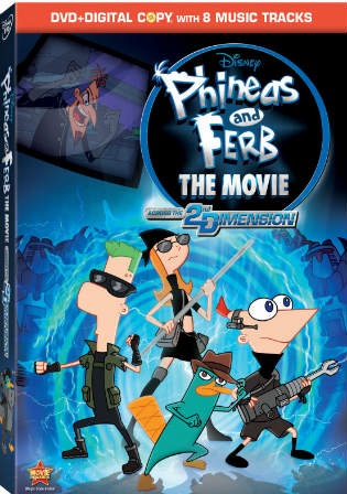 Phineas and Ferb the Movie Across the 2nd Dimension 2011 BRRip 550Mb Hindi Dual Audio 720p Watch Online Full Movie Download bolly4u