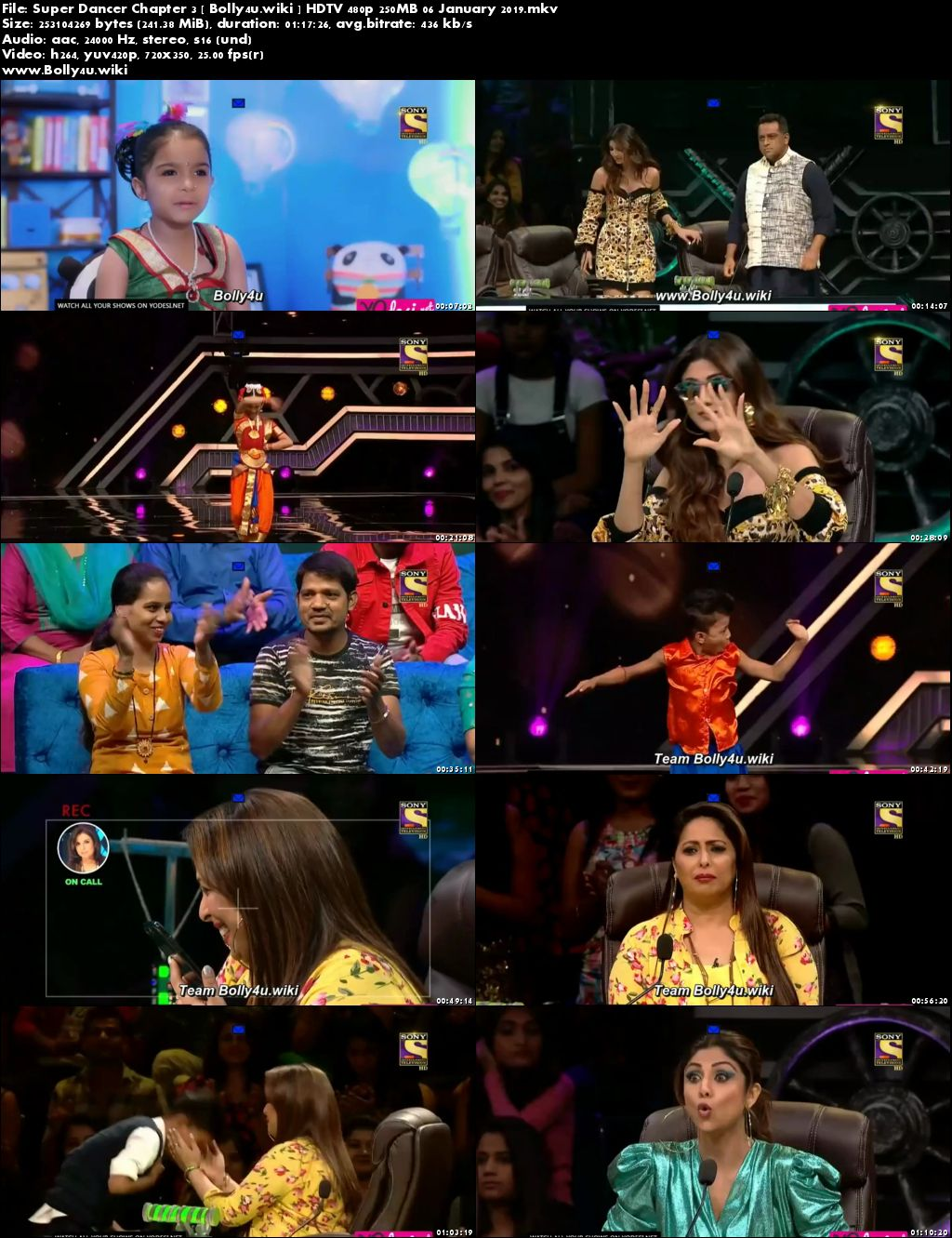 Super Dancer Chapter 3 HDTV 480p 250MB 06 January 2019 Download