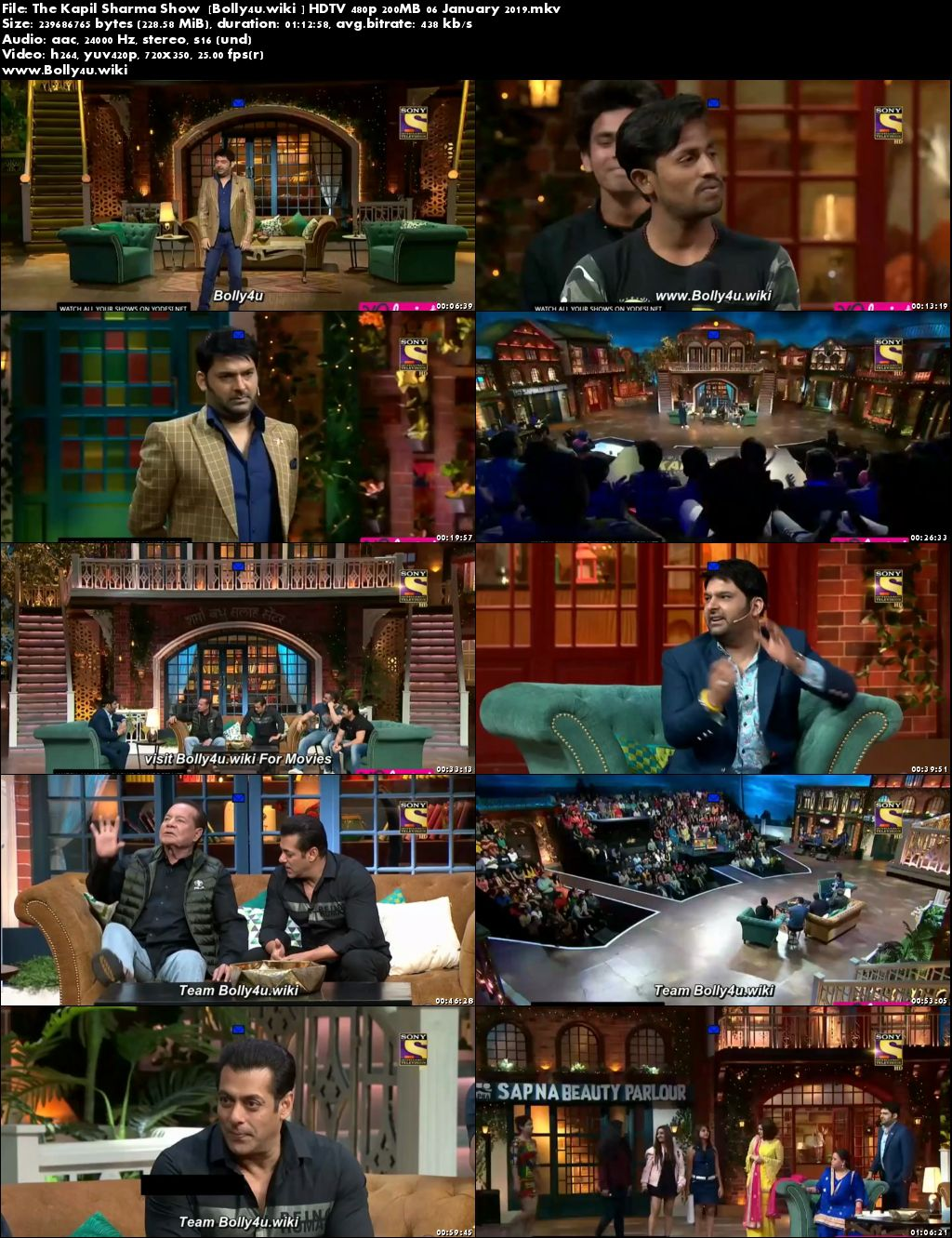 The Kapil Sharma Show HDTV 480p 200MB 06 January 2019 Download