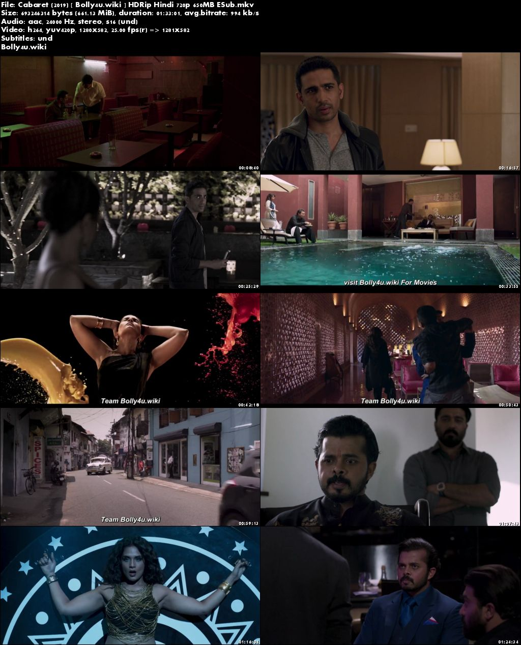 Cabaret 2019 HDRip 650Mb Full Hindi Movie Download 720p ESub