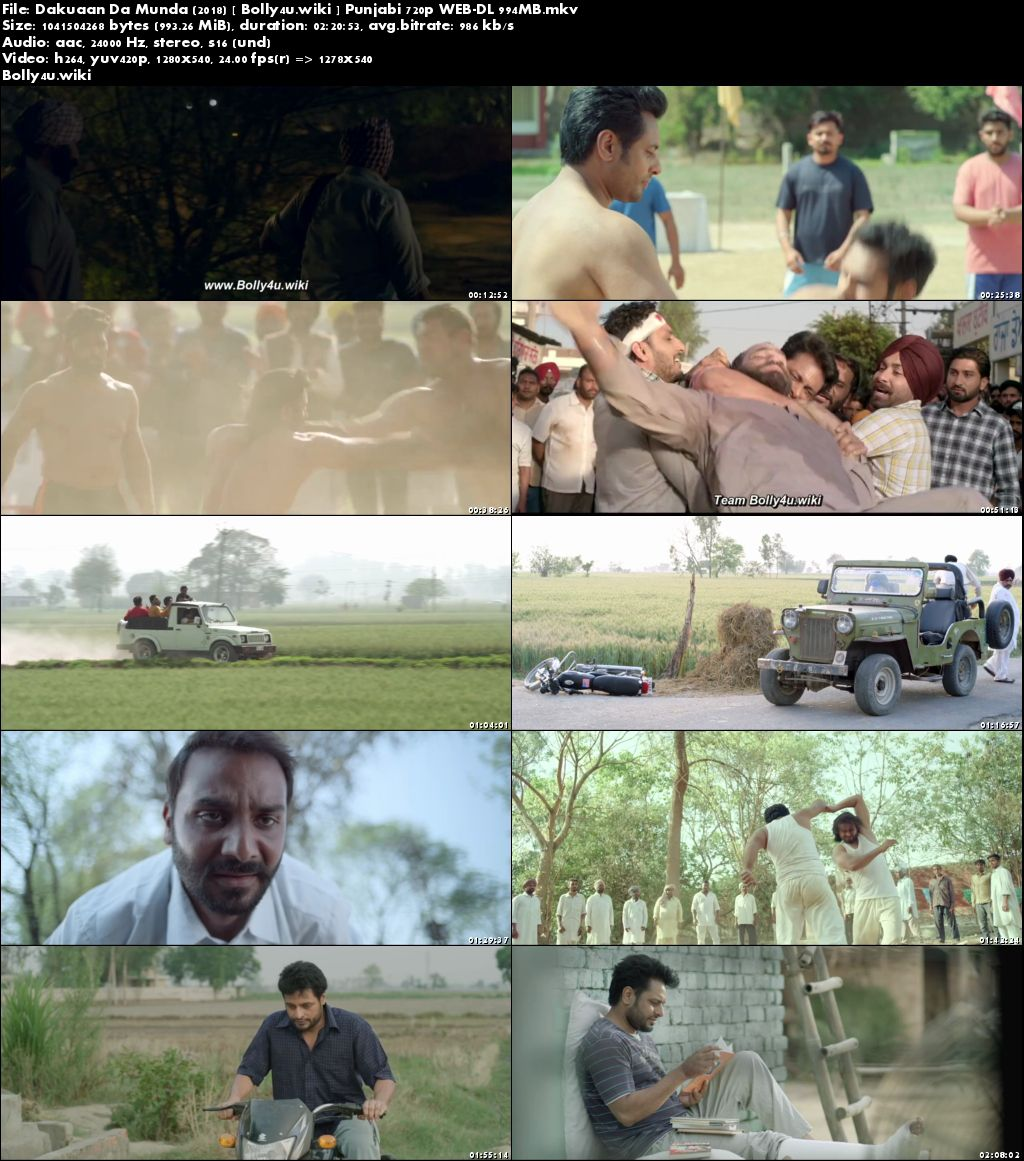 Dakuaan Da Munda 2018 HDRip 950Mb Punjabi 720p Download