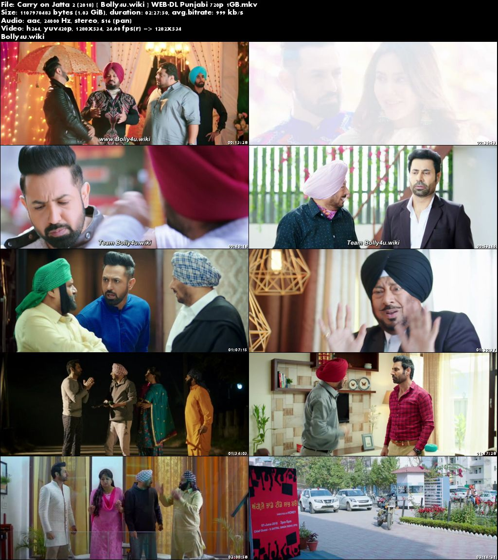Carry on Jatta 2 2018 WEB-DL 1Gb Punjabi 720p Download
