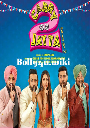 Carry on Jatta 2 2018 WEB-DL 400MB Punjabi 480p Watch Online Full Movie Download bolly4u