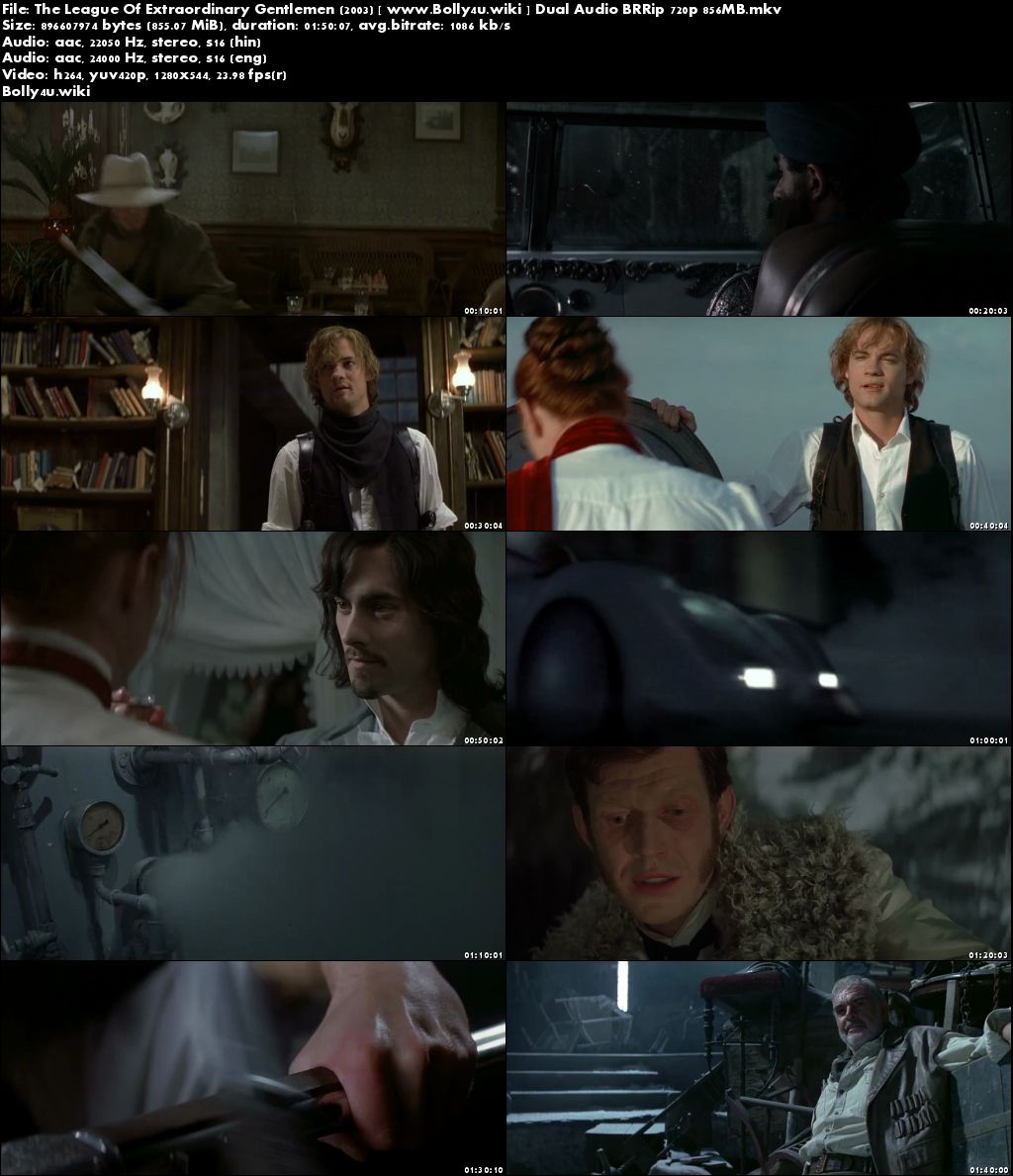 The League Of Extraordinary Gentlemen 2003 BluRay 850MB Hindi Dual Audio 720p Download
