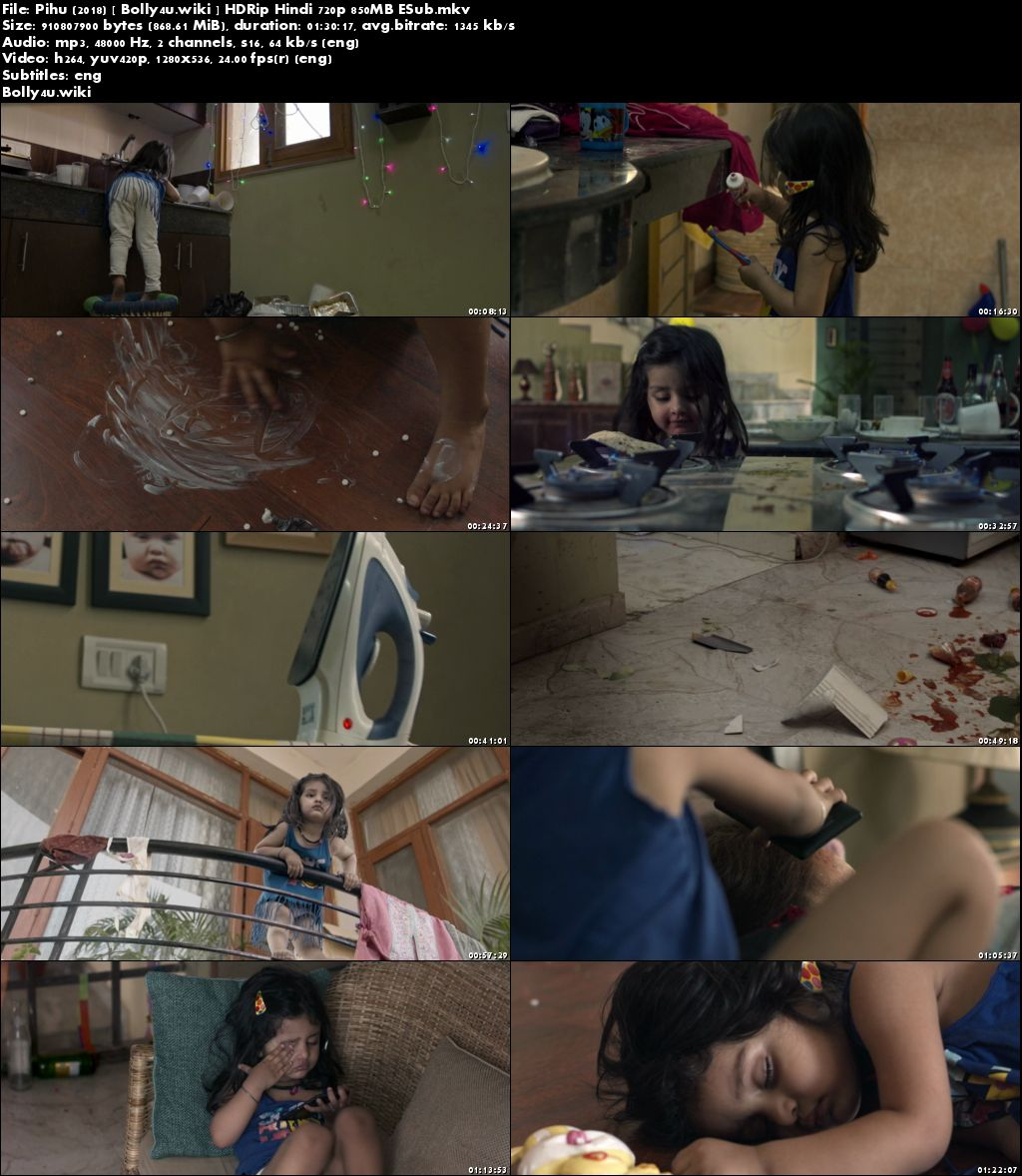 Pihu 2018 HDRip 850Mb Full Hindi Movie Download 720p ESub