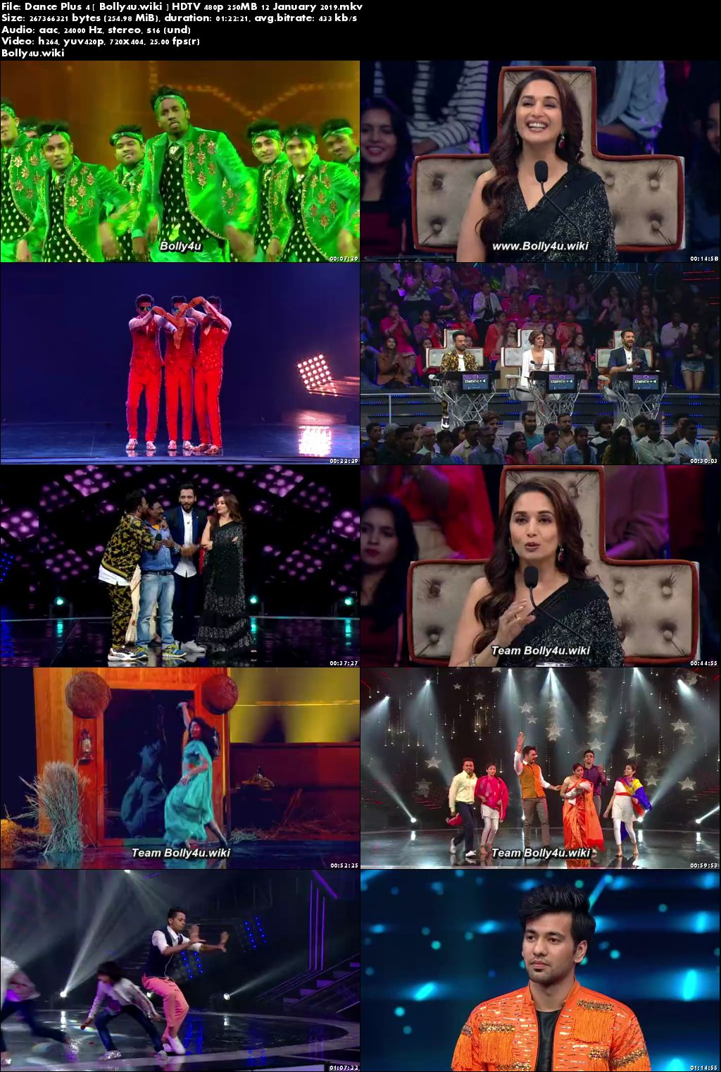 Dance Plus Season 4 HDTV 480p 250MB 12 January 2019 Download