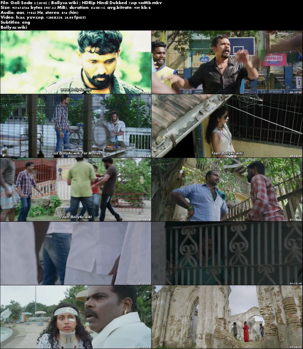 Goli Soda 2 2018 HDRip 350Mb Hindi Dubbed 480p Download