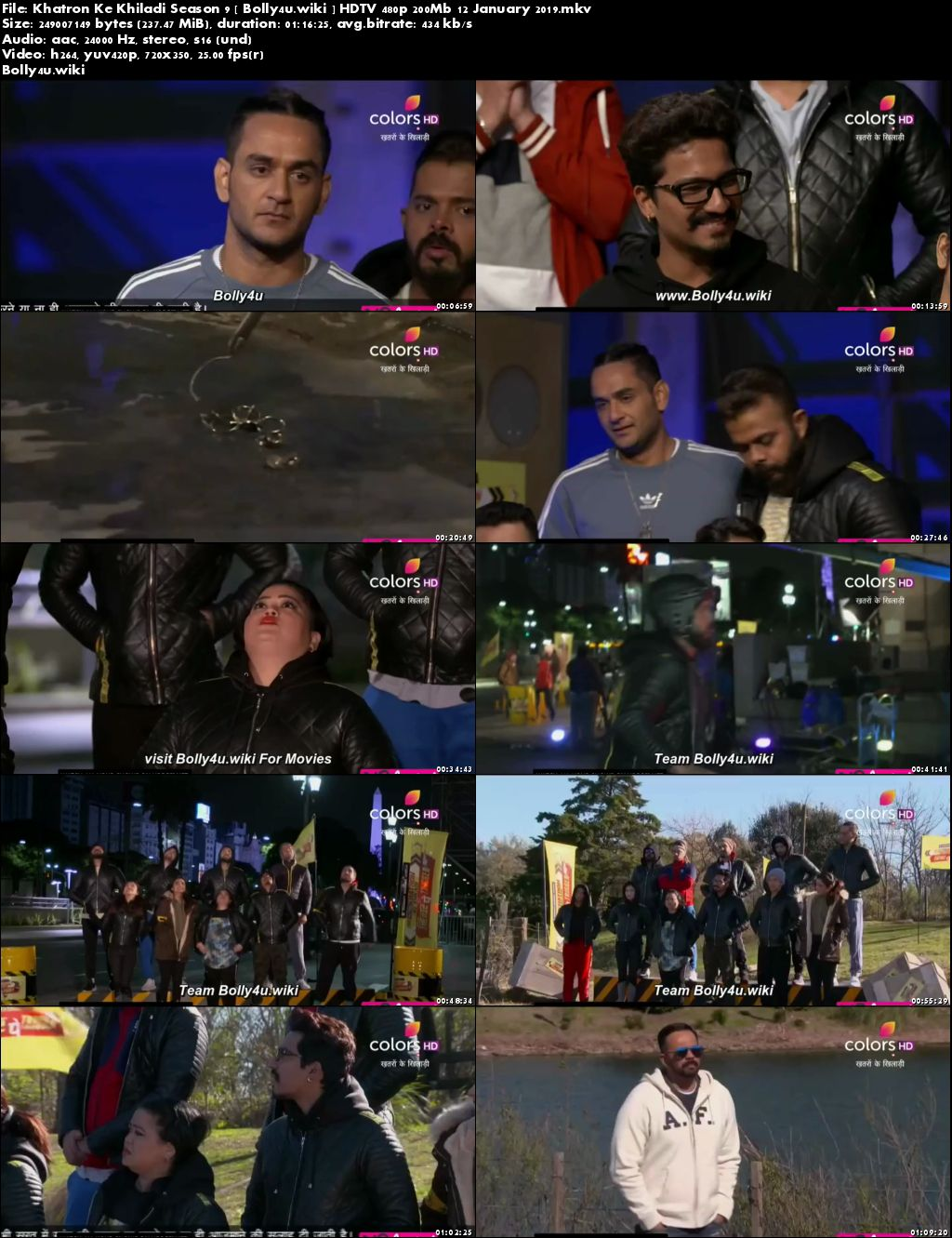 Khatron Ke Khiladi Season 9 HDTV 480p 200Mb 12 January 2019 Download