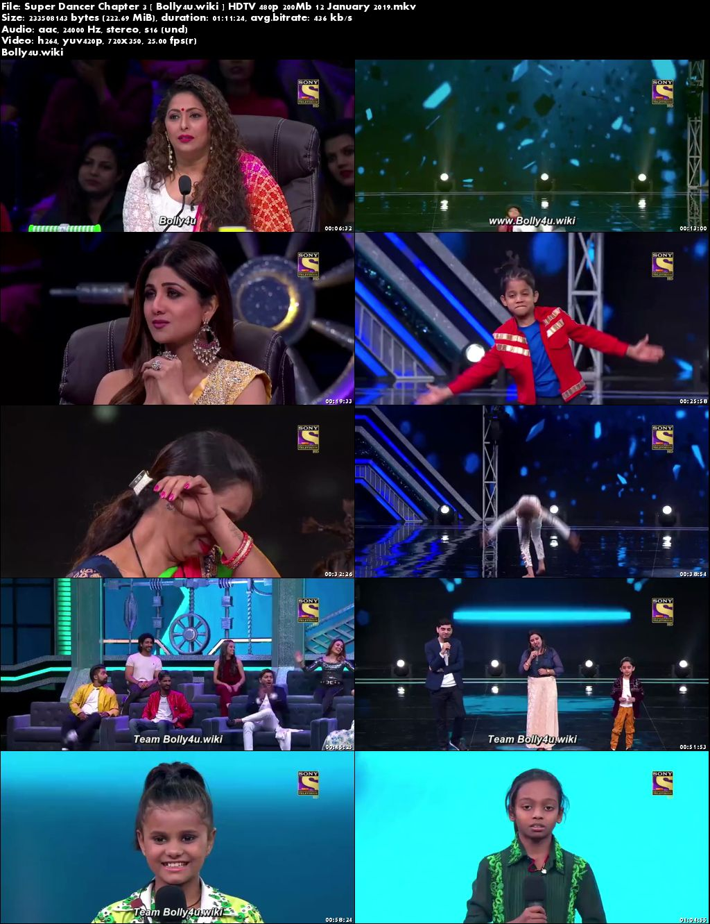 Super Dancer Chapter 3 HDTV 480p 200Mb 12 January 2019 Download
