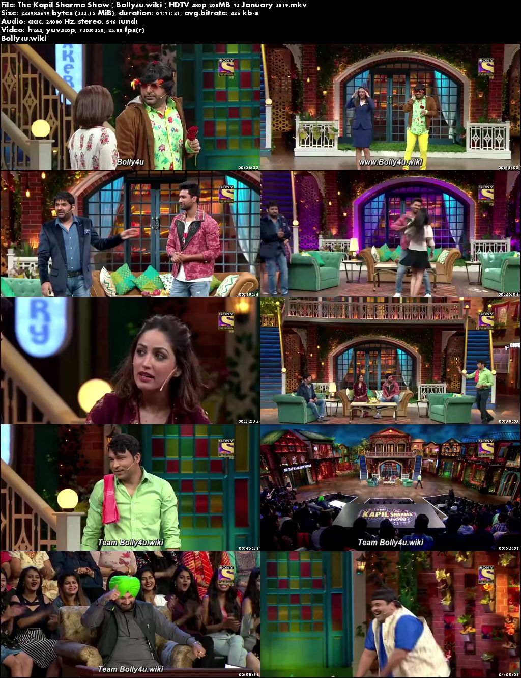The Kapil Sharma Show HDTV 480p 200MB 12 January 2019 Download