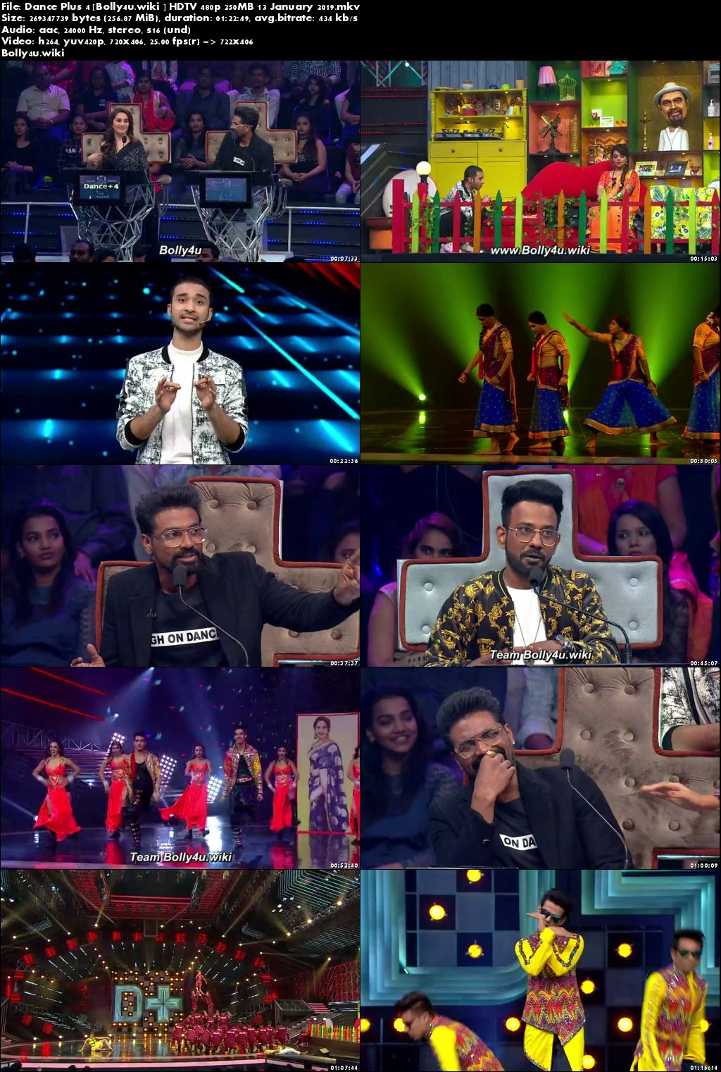 Dance Plus Season 4 HDTV 480p 250MB 13 January 2019 Download