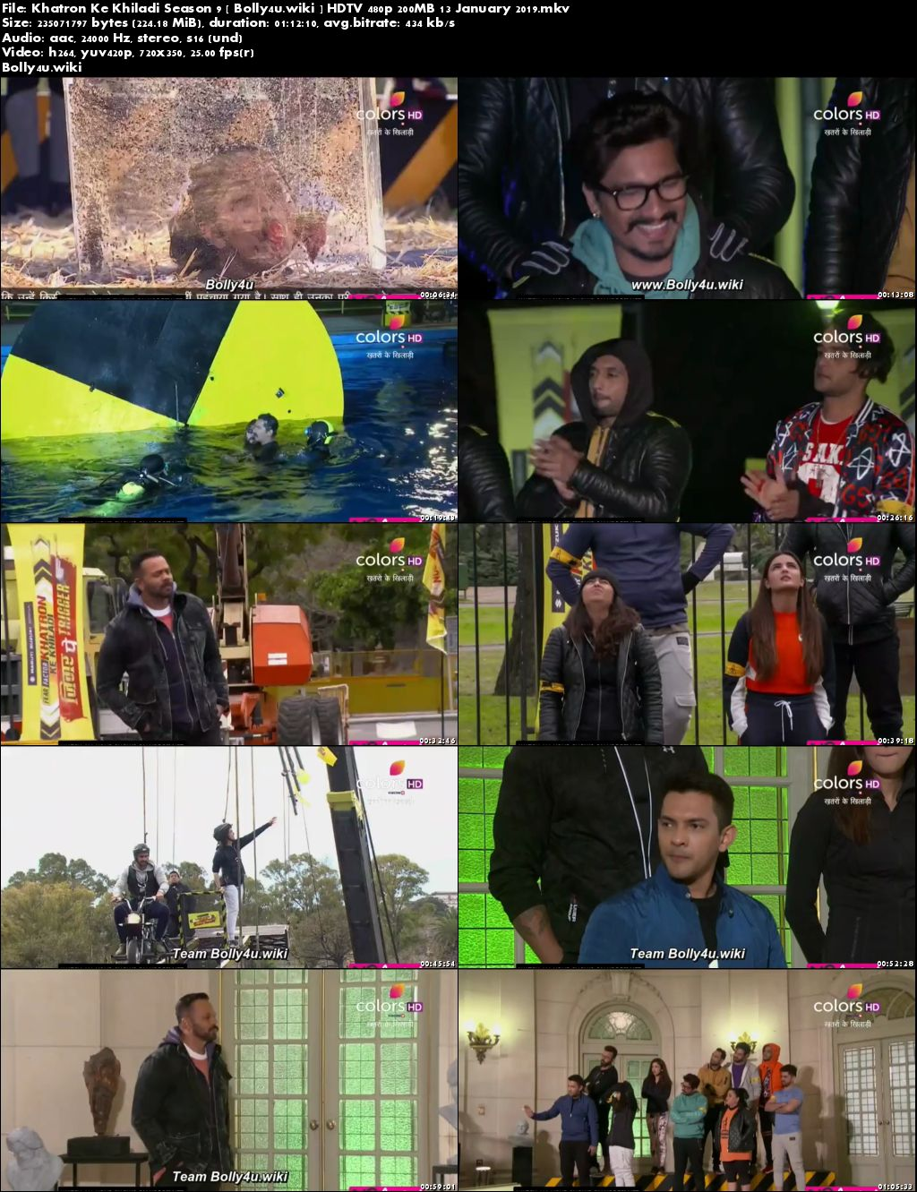 Khatron Ke Khiladi Season 9 HDTV 480p 200MB 13 January 2019 Download
