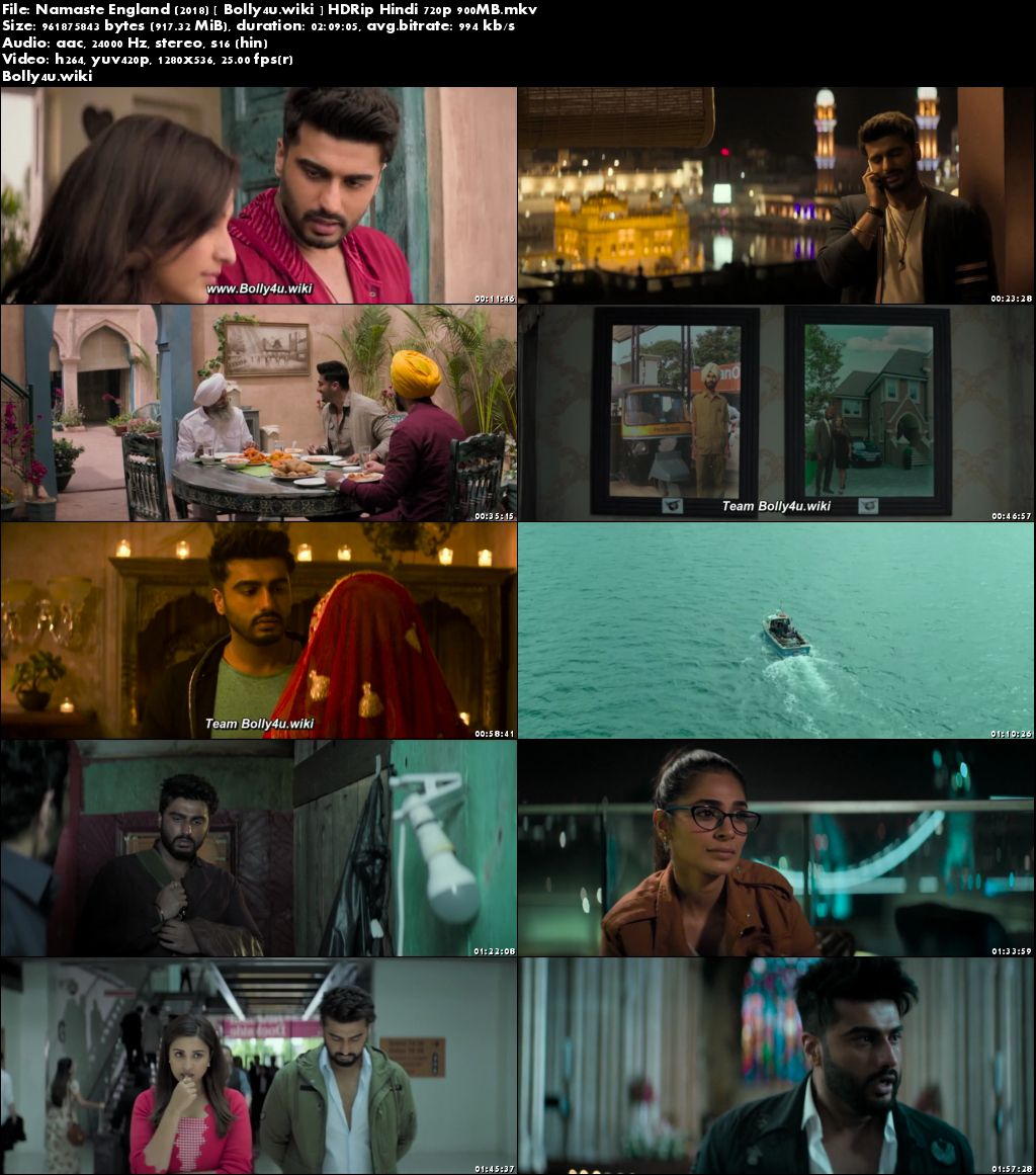 Namaste England 2018 HDRip 900Mb Full Hindi Movie Download 720p