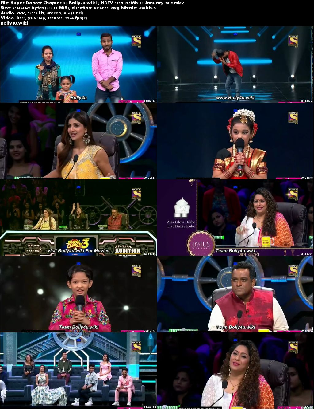 Super Dancer Chapter 3 HDTV 480p 200Mb 13 January 2019 Download
