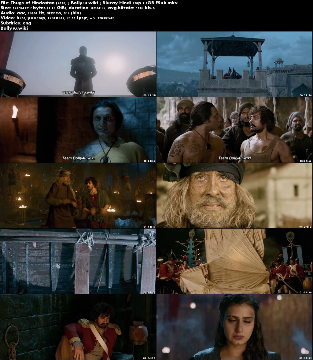 Thugs of Hindostan 2018 BluRay Full Hindi Movie Download 720p ESub