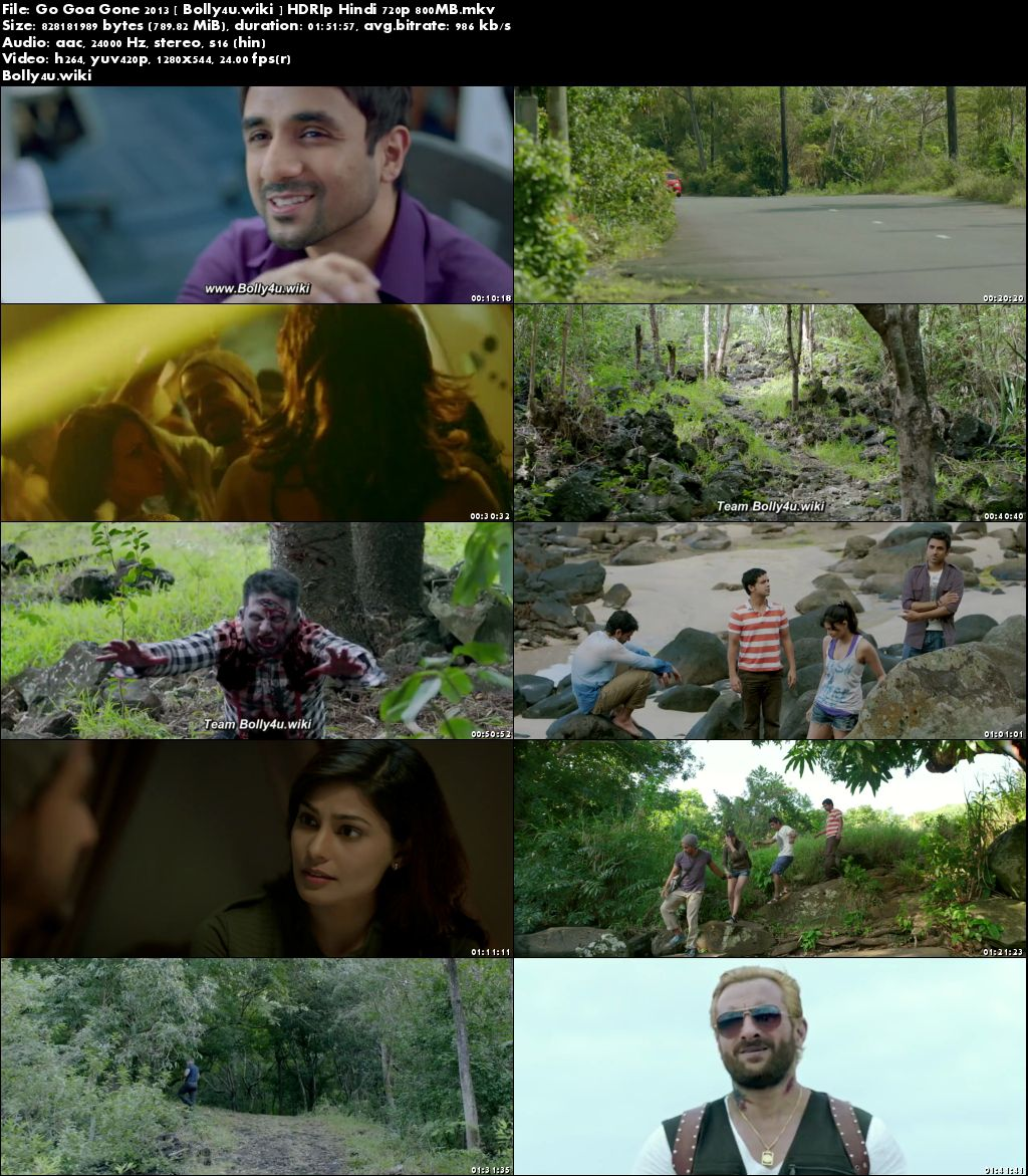 Go Goa Gone 2013 HDRip 800Mb Full Hindi Movie Download 720p