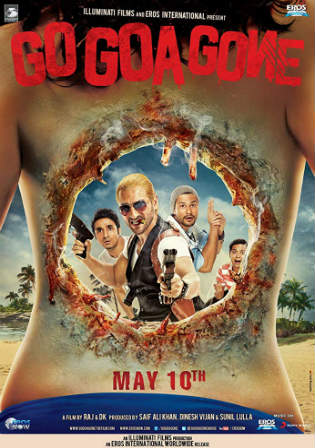 Go Goa Gone 2013 HDRip 800Mb Full Hindi Movie Download 720p Watch Online Free bolly4u