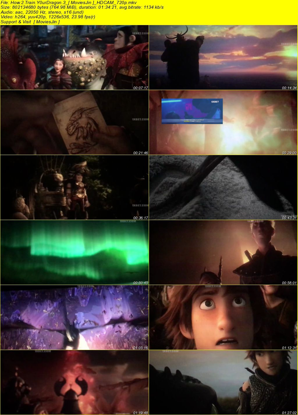 Watch Online How To Train Your Dragon 3 2019 Movie 700MB CAMRip 720p Full Movie Download 300mbMovies