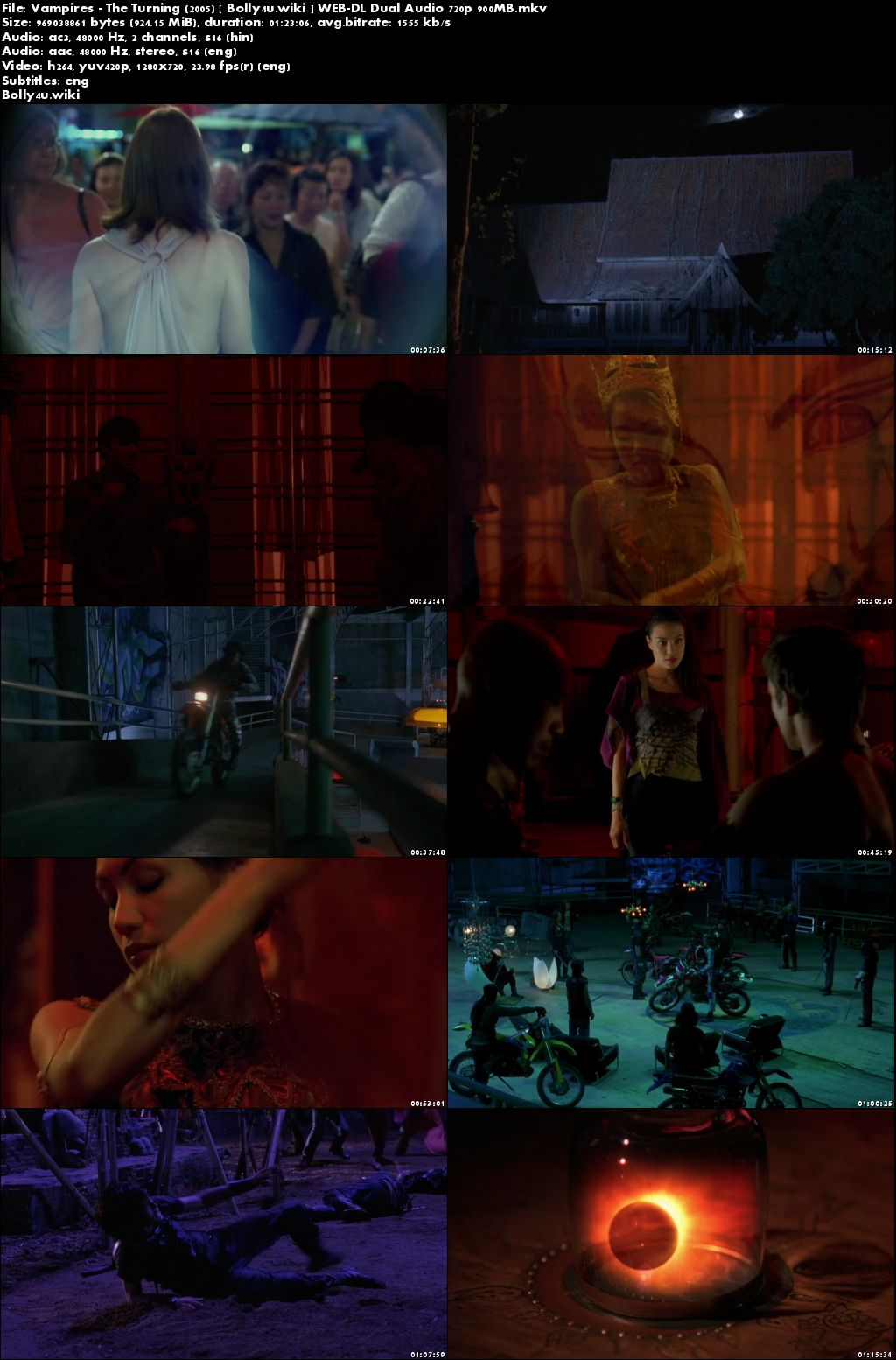 Vampires The Turning 2005 WEB-DL 900Mb Hindi Dual Audio 720p Download