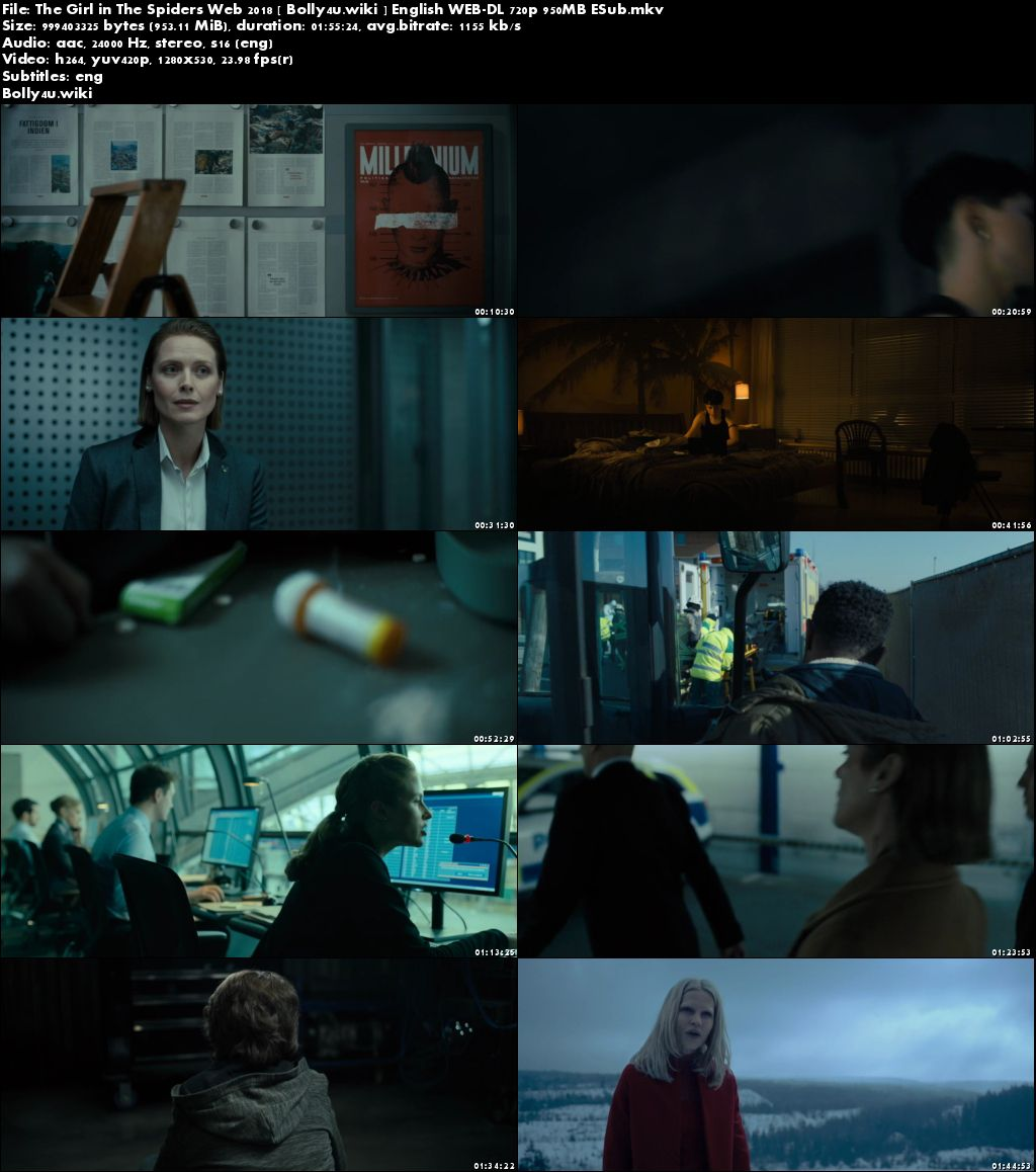 The Girl in The Spiders Web 2018 WEB-DL 950MB English 720p ESub Download