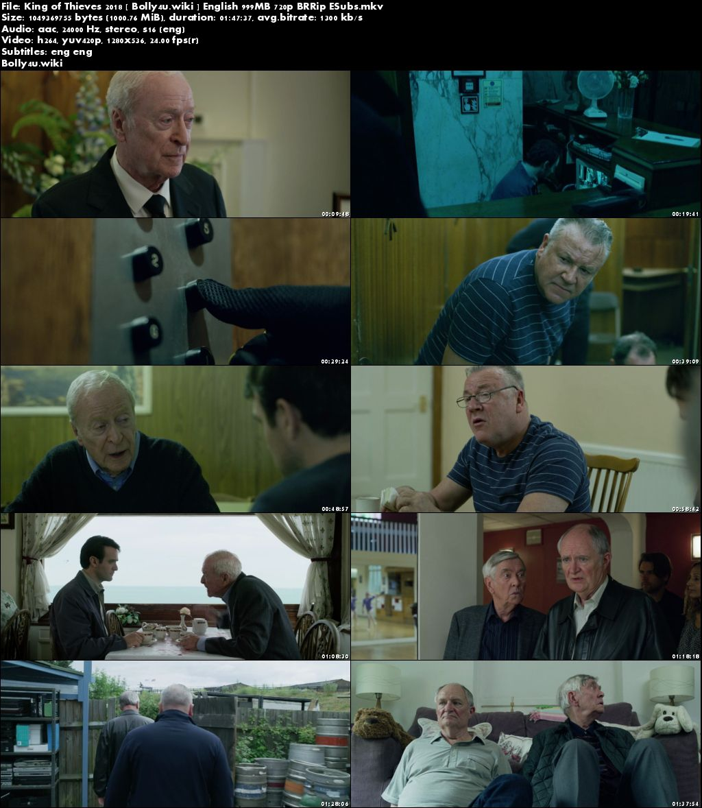 King of Thieves 2018 BRRip 300Mb English 480p ESub Download