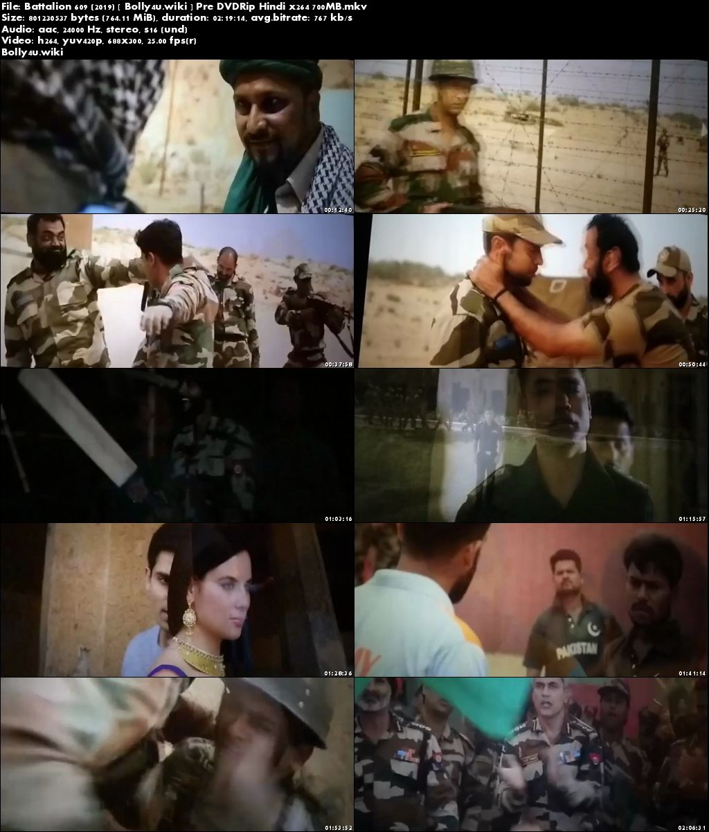 Battalion 609 (2019) Pre DVDRip 700Mb Full Hindi Movie Download x264