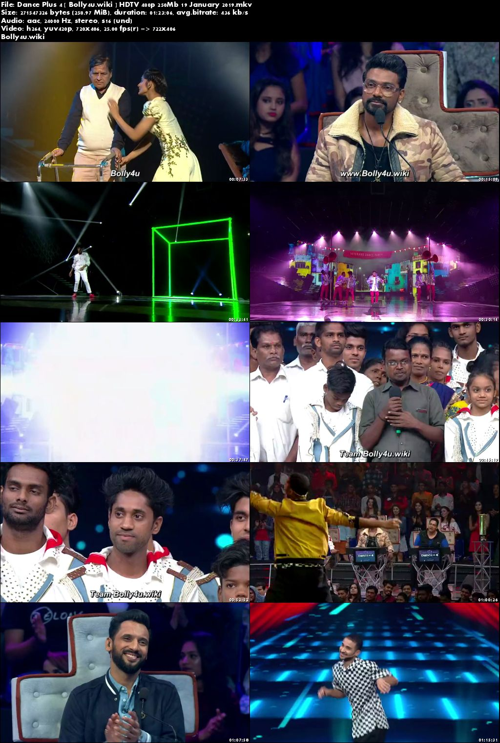Dance Plus Season 4 HDTV 480p 250MB 19 January 2019 Download