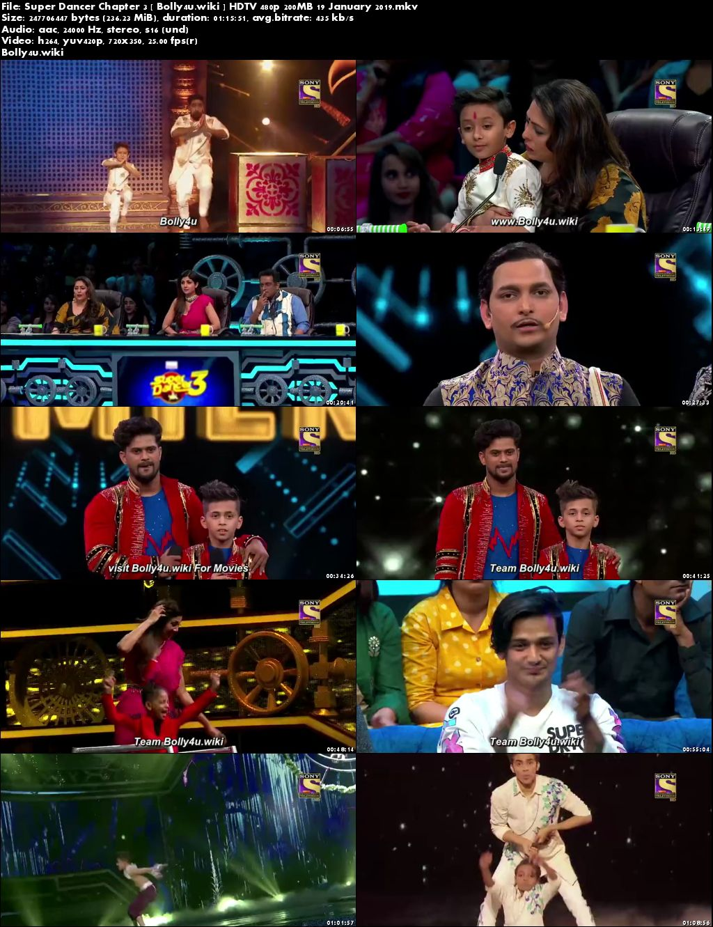 Super Dancer Chapter 3 HDTV 480p 200MB 19 January 2019 Download