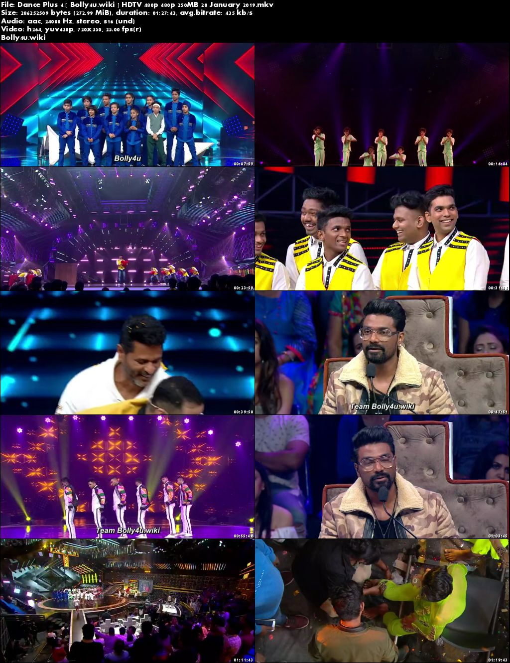 Dance Plus Season 4 HDTV 480p 250MB 20 January 2019 Download