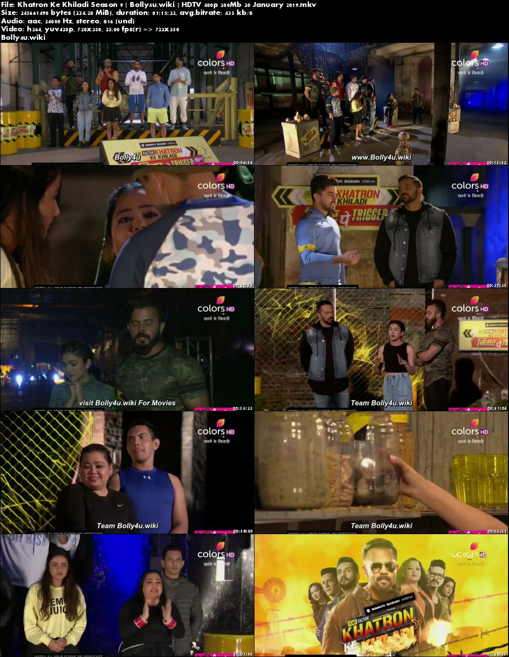 Khatron Ke Khiladi Season 9 HDTV 480p 200Mb 20 January 2019 Download