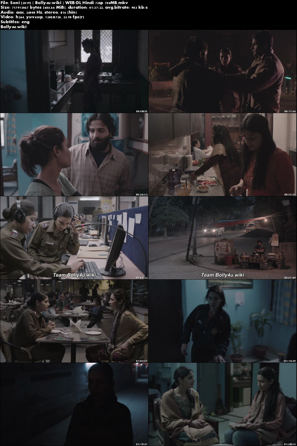 Soni 2019 WEB-DL 300MB Full Hindi Movie Download 480p
