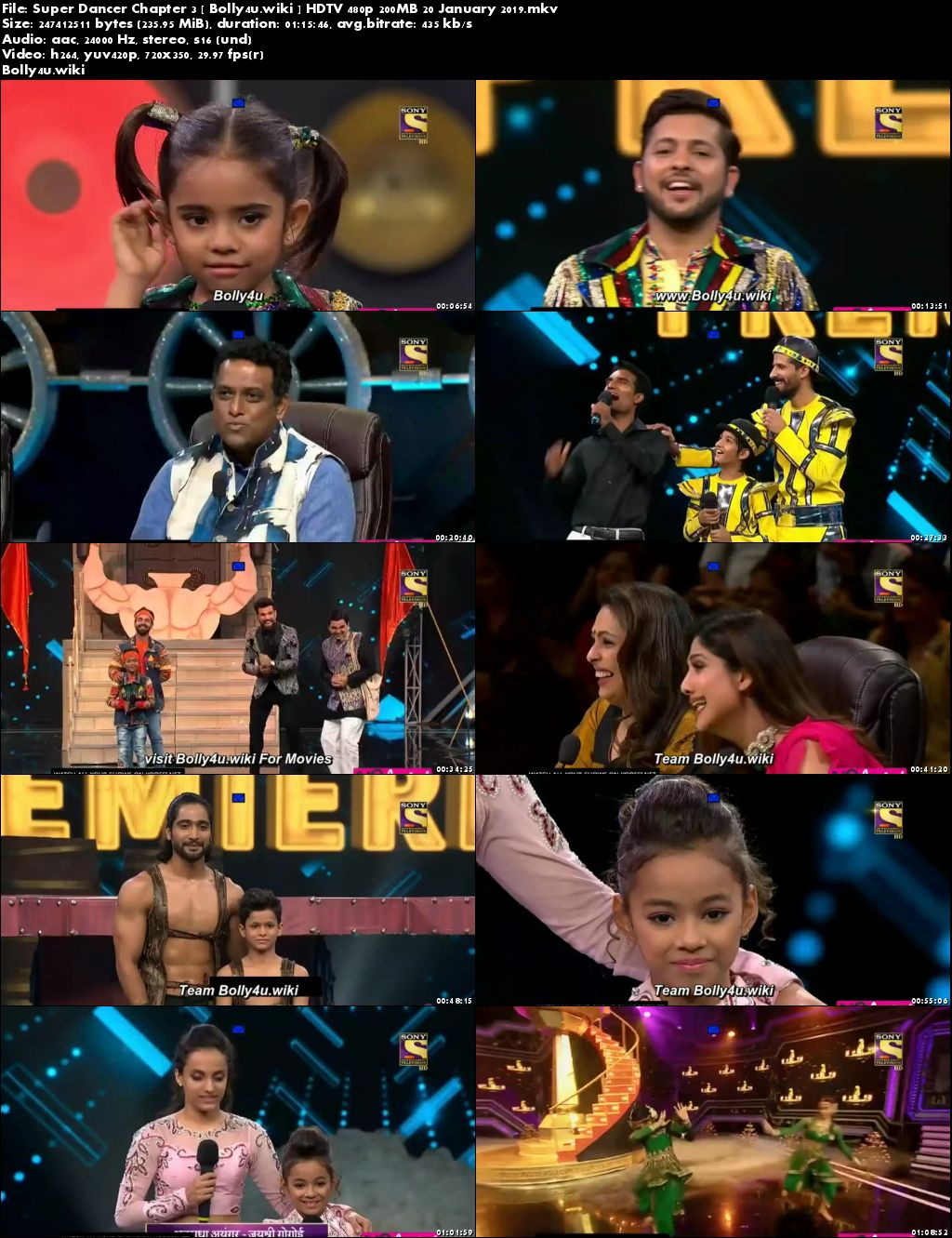 Super Dancer Chapter 3 HDTV 480p 200MB 20 January 2019 Download